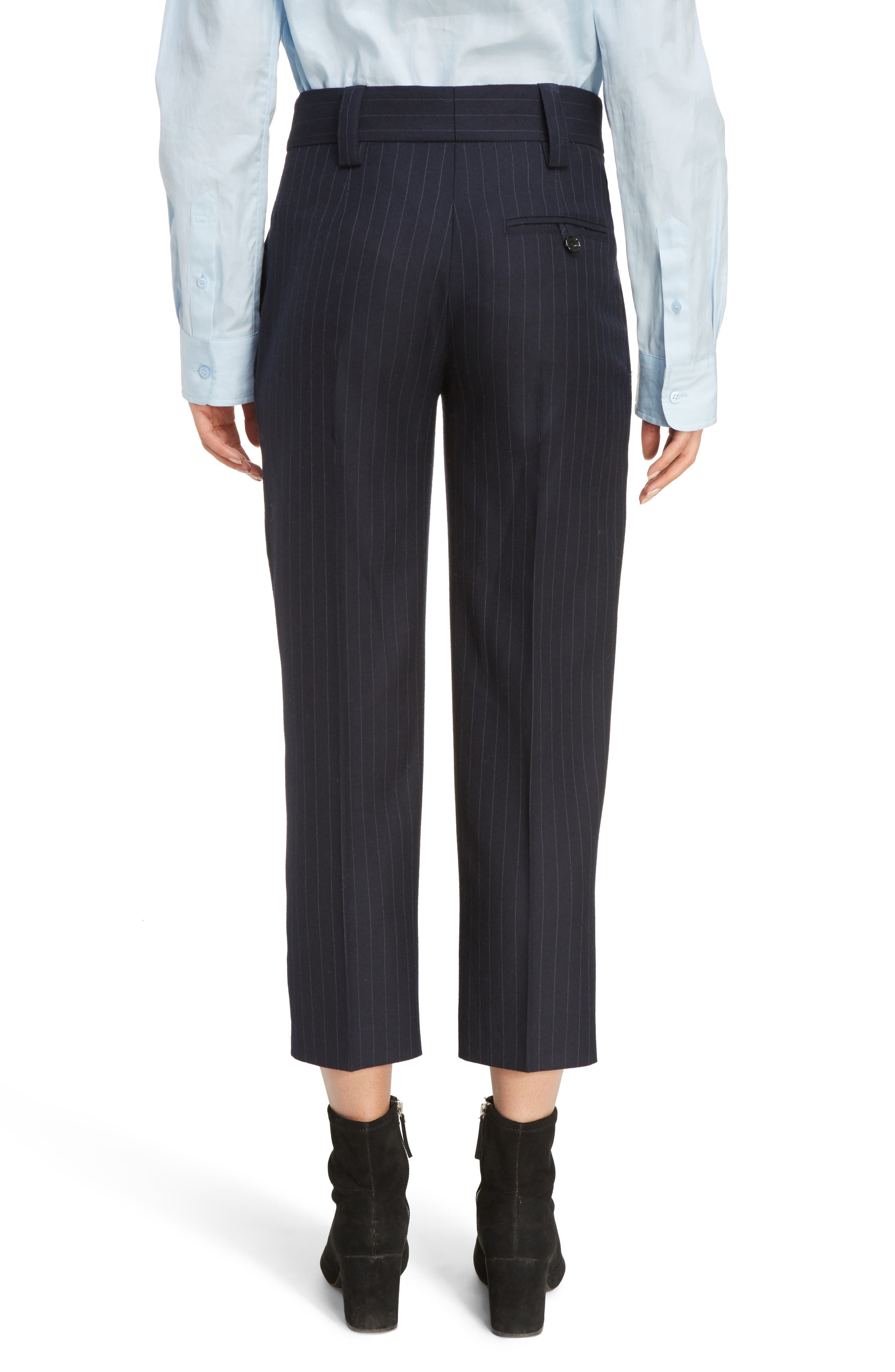 Trea Pinstripe Straight Leg Wool Pants,                             Alternate thumbnail 2, color,                             410