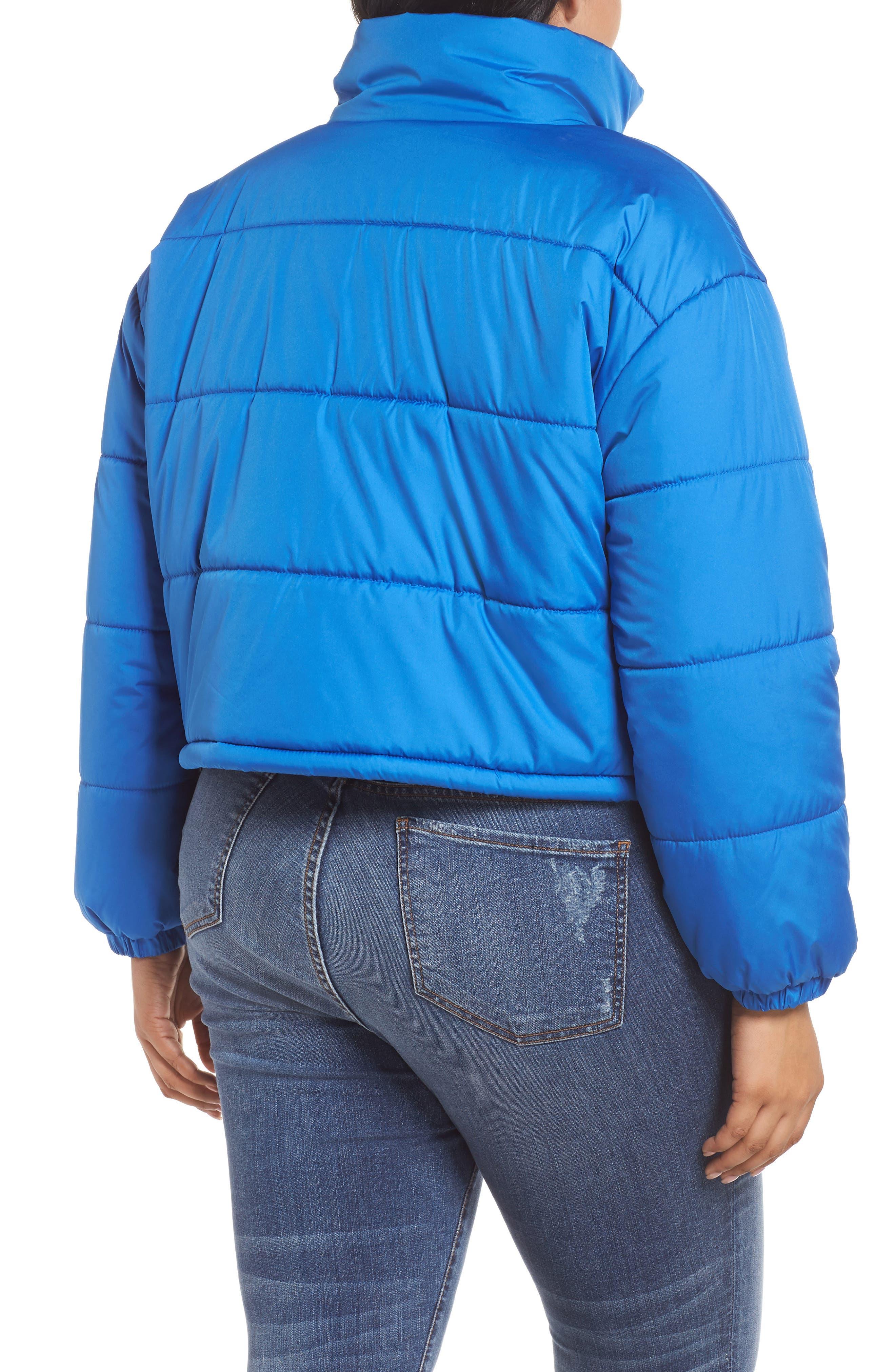Crop Puffer Jacket,                             Alternate thumbnail 9, color,                             BLUE BOAT