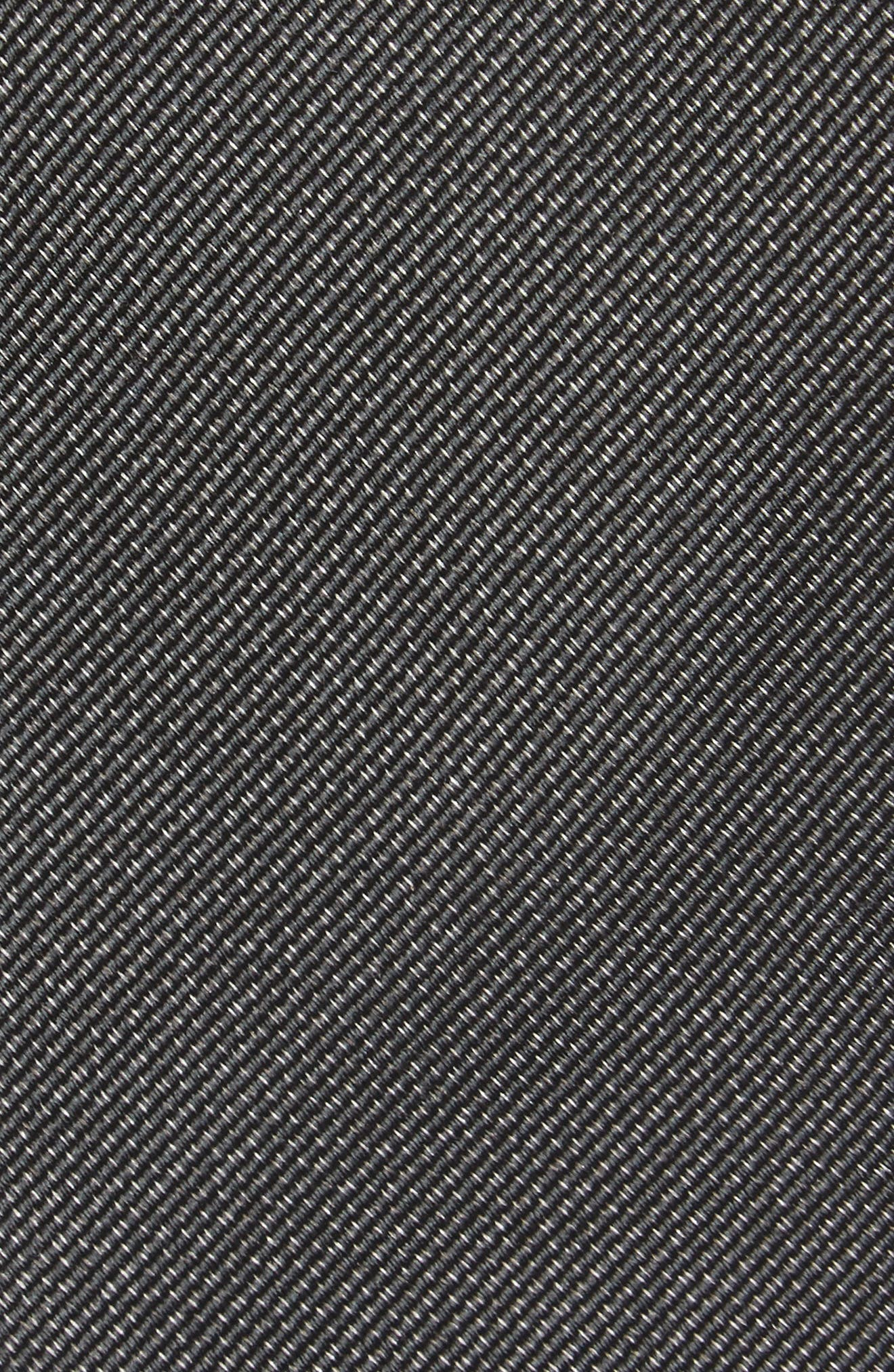 Mesa Solid Silk Tie,                             Alternate thumbnail 2, color,                             001