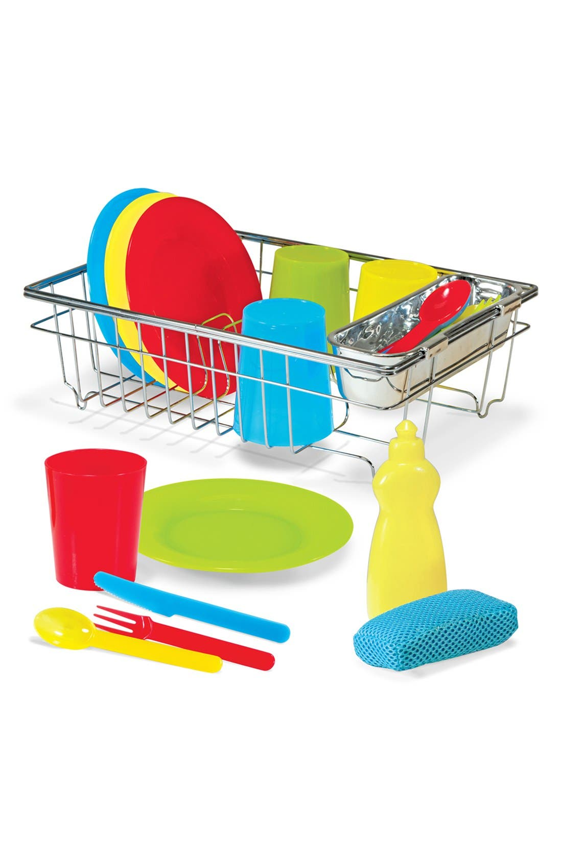 Wash & Dry Dish Set Toy,                             Alternate thumbnail 3, color,