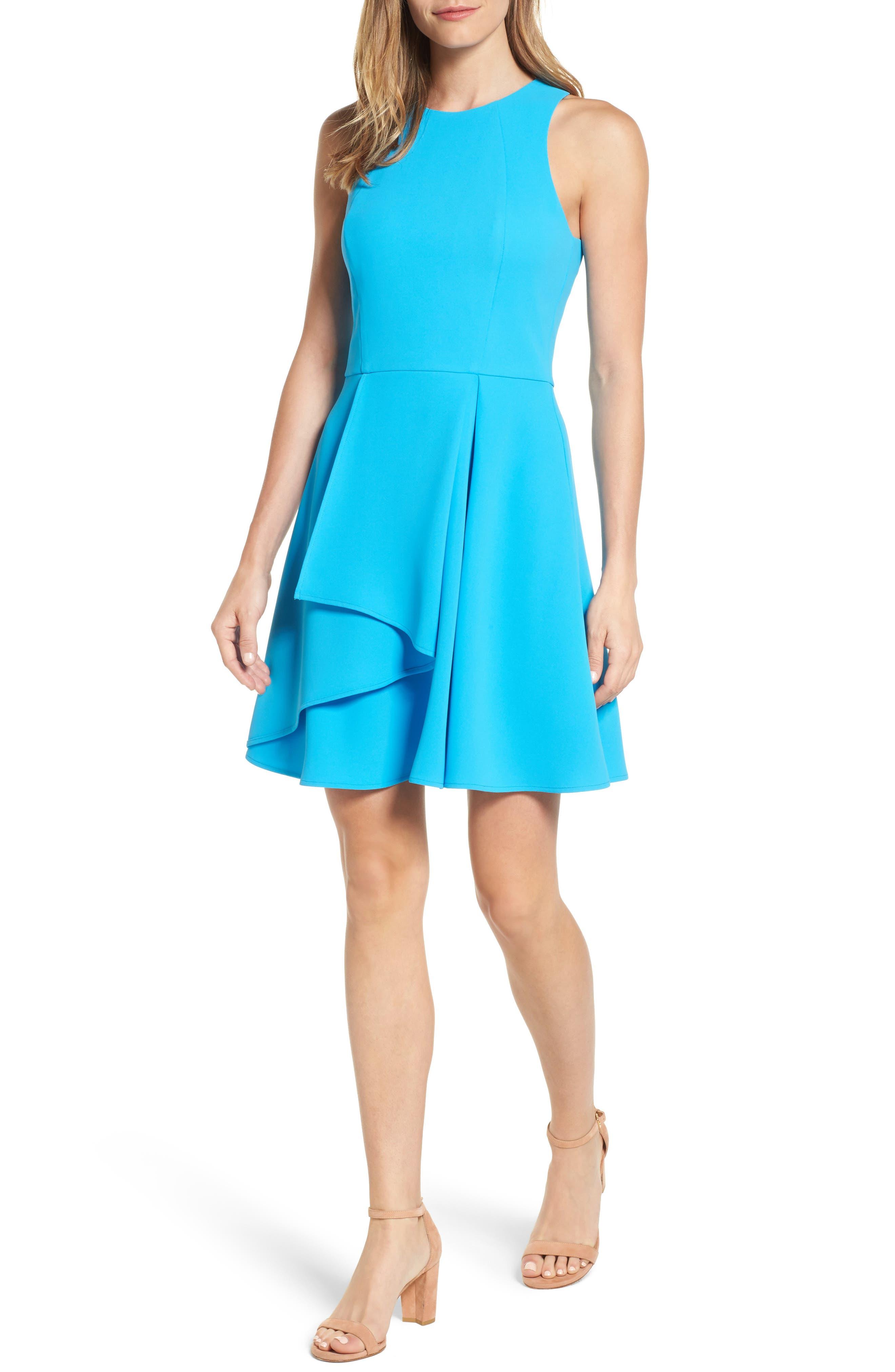 Athena Fit & Flare Dress,                             Main thumbnail 3, color,