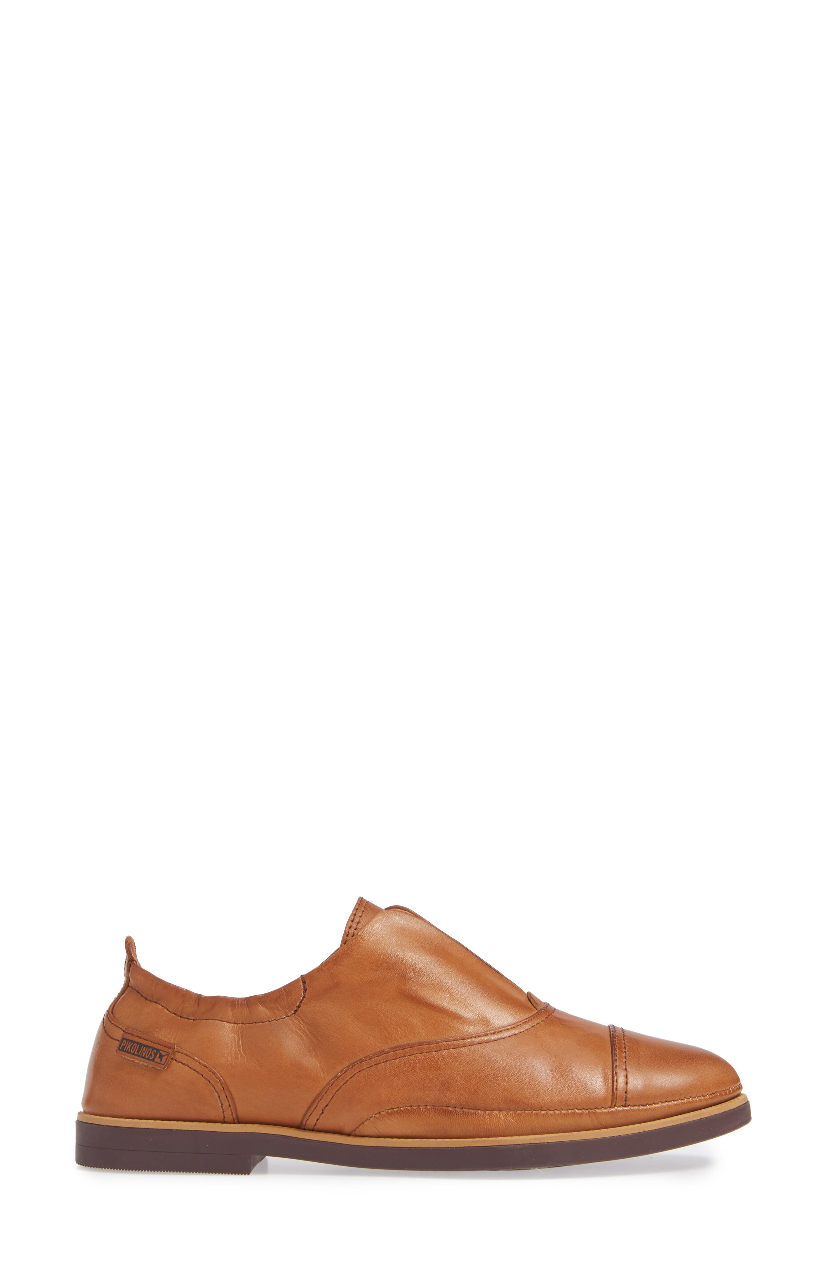 Santorini Colorblock Laceless Oxford,                             Alternate thumbnail 3, color,                             BRANDY LEATHER
