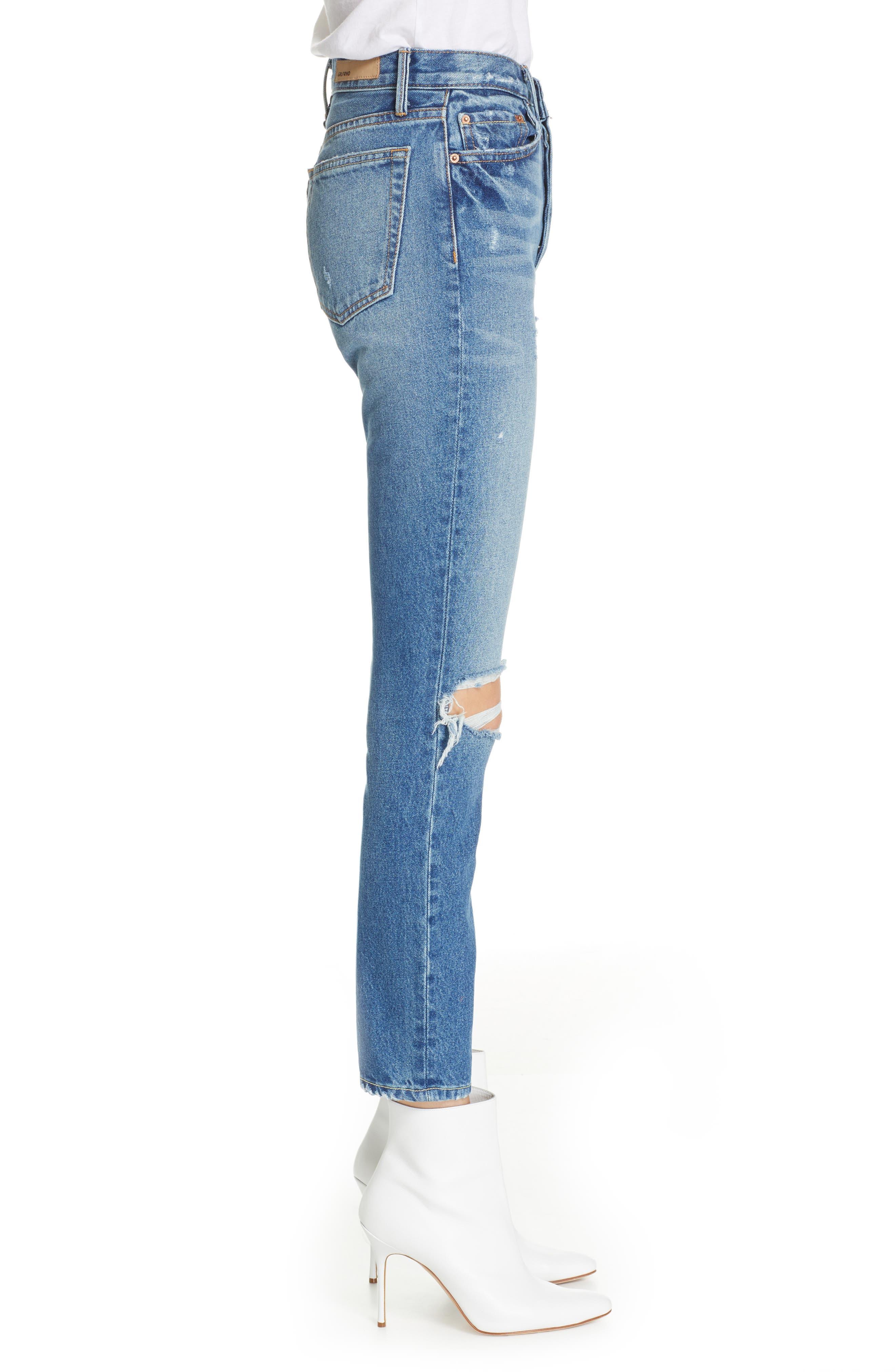 GRLFRND,                             Karolina Ripped High Waist Skinny Jeans,                             Alternate thumbnail 3, color,                             I PUT A SPELL ON YOU