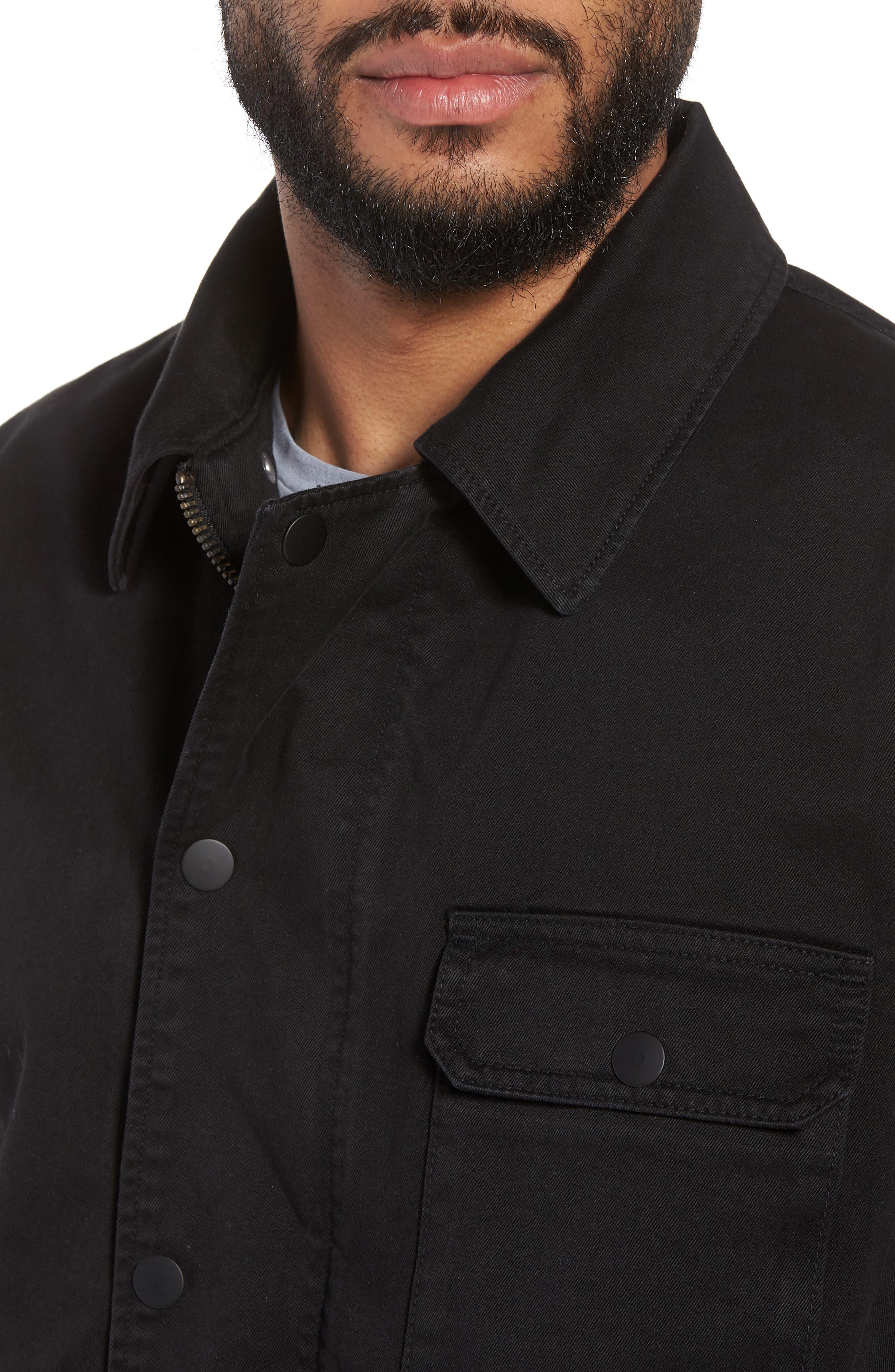 Hudson Military Jacket,                             Alternate thumbnail 4, color,                             001