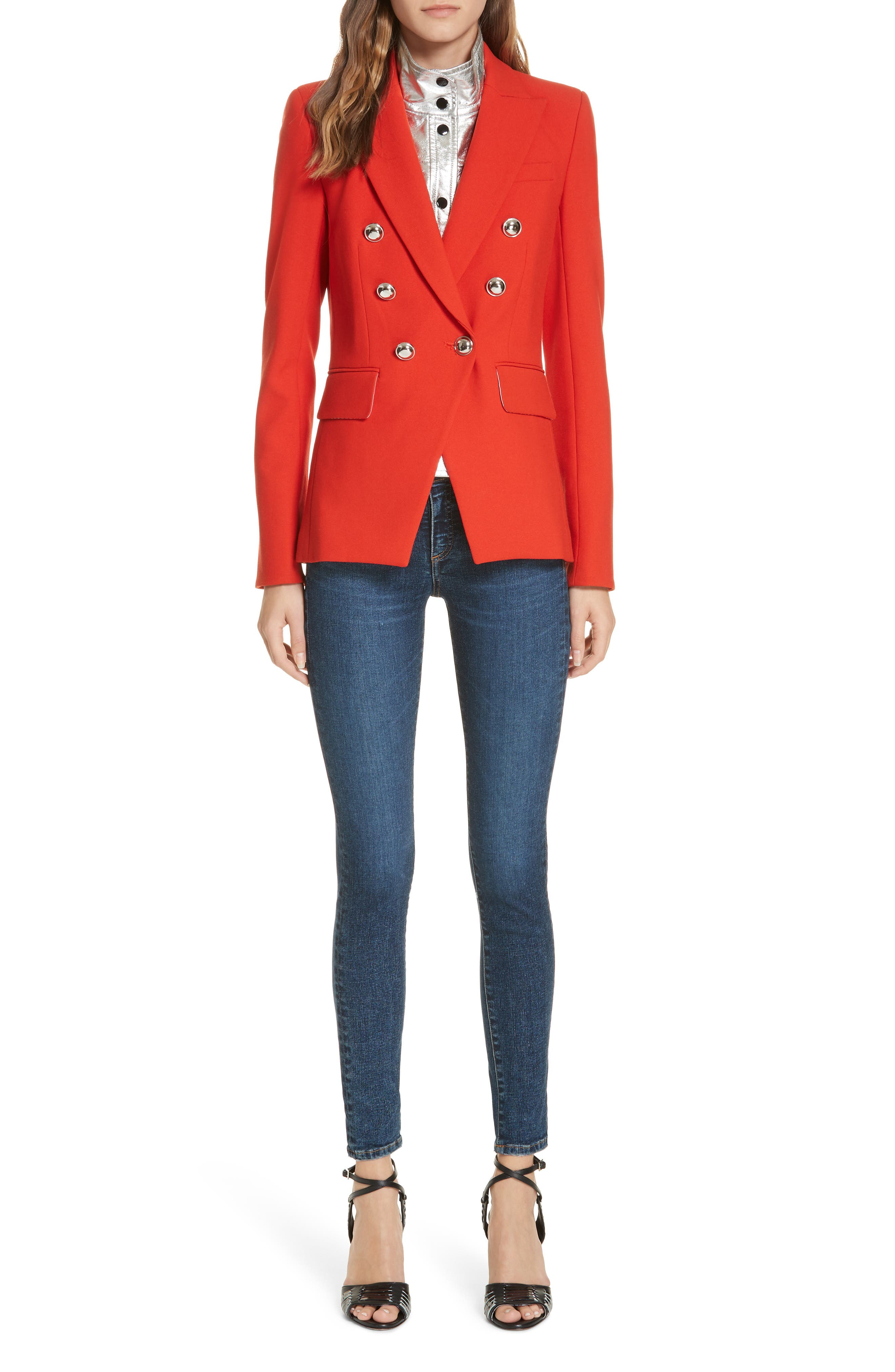 Miller Dickey Jacket,                             Alternate thumbnail 7, color,                             RED