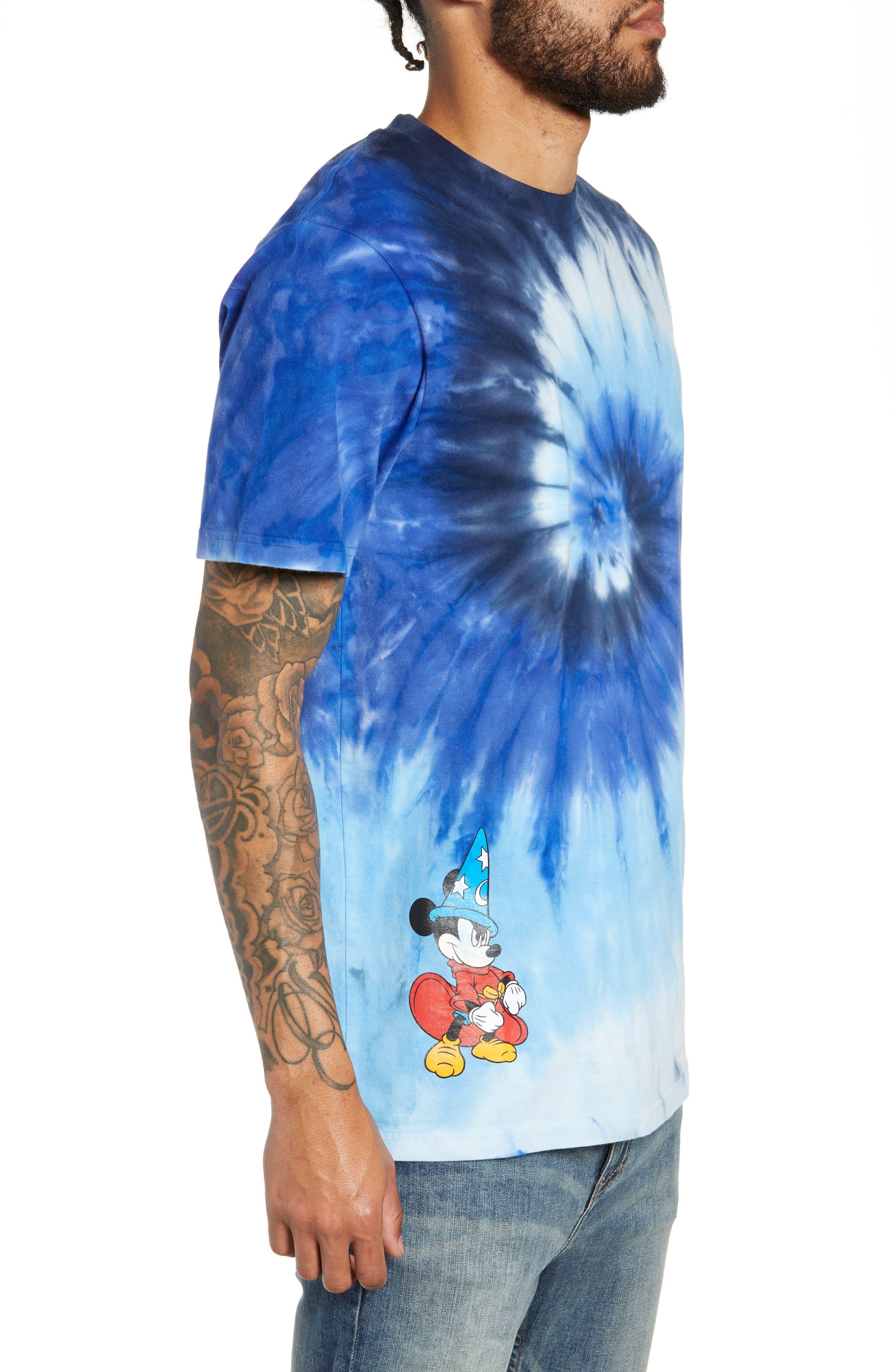 x Disney Mickey's 90th Anniversary T-Shirt,                             Alternate thumbnail 3, color,                             MICKEY FANTASIA TIE DYE