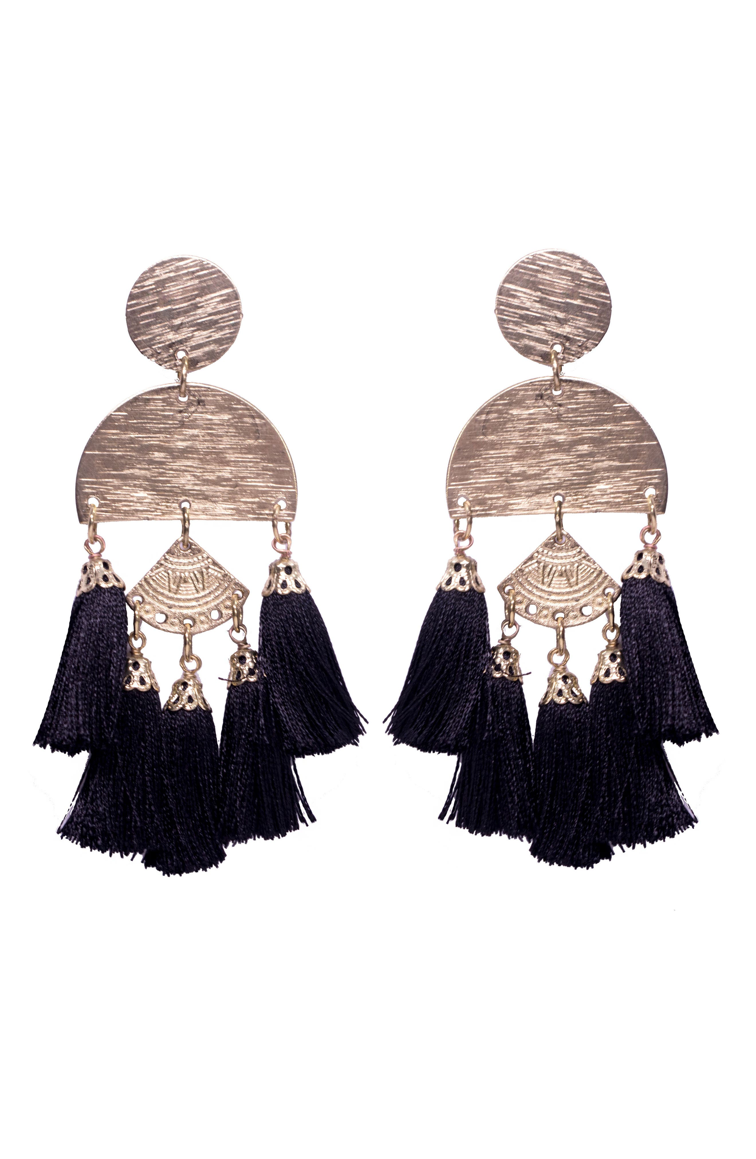 Bali Tassel Earrings,                             Main thumbnail 2, color,