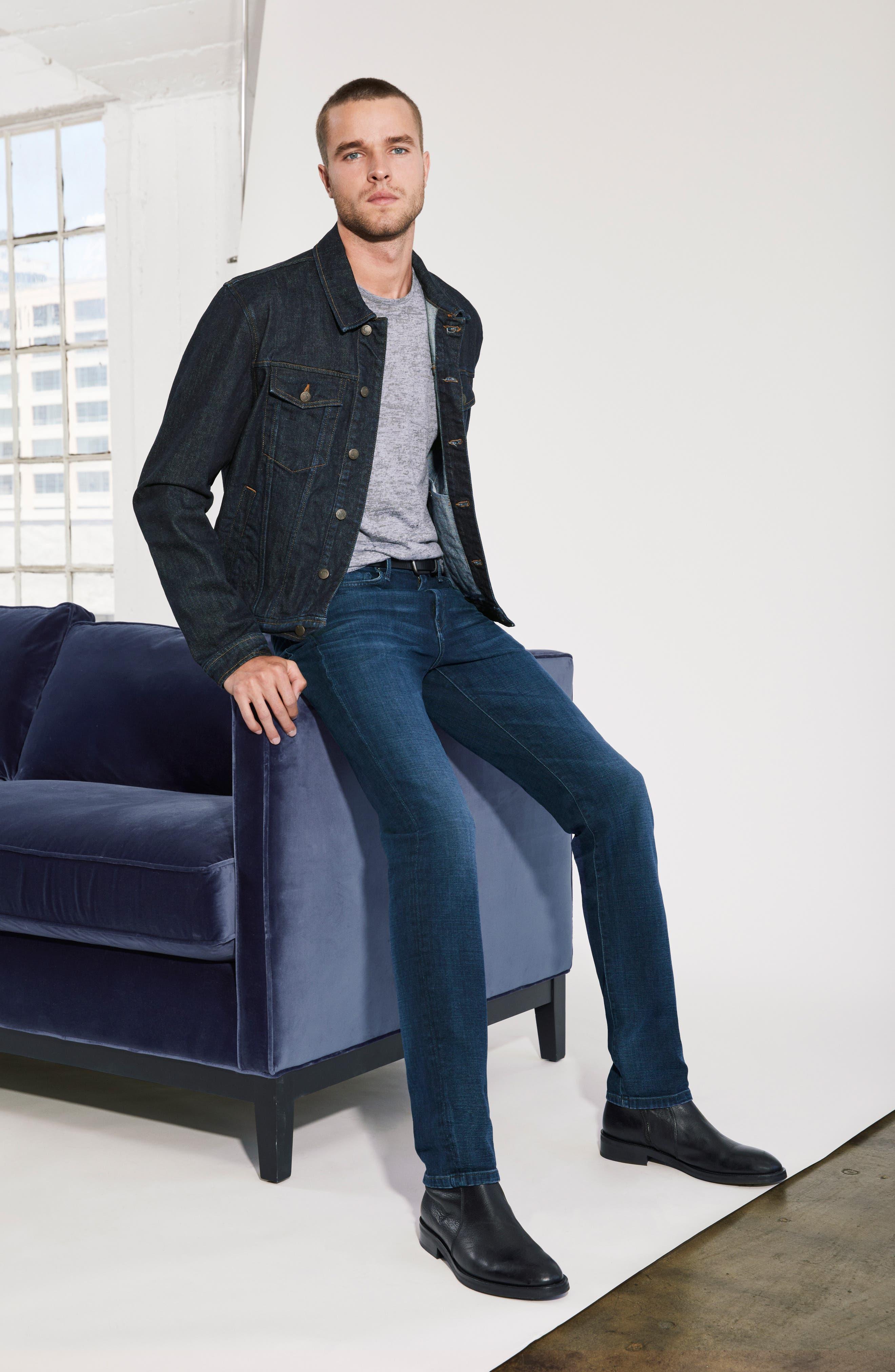 Slim Fit Jeans,                             Alternate thumbnail 4, color,                             MARC