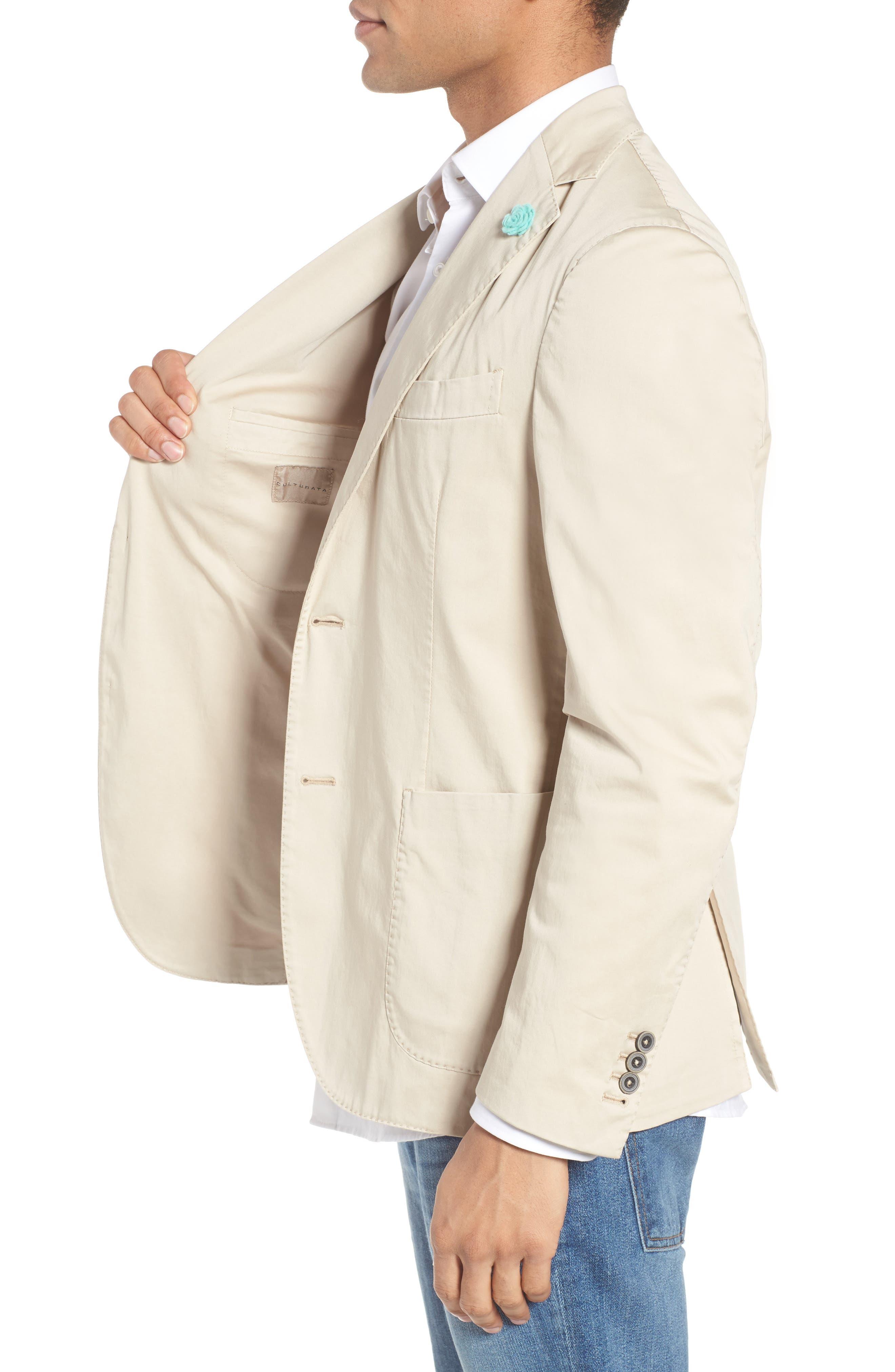 Trim Fit Stretch Cotton Blazer,                             Alternate thumbnail 3, color,                             250