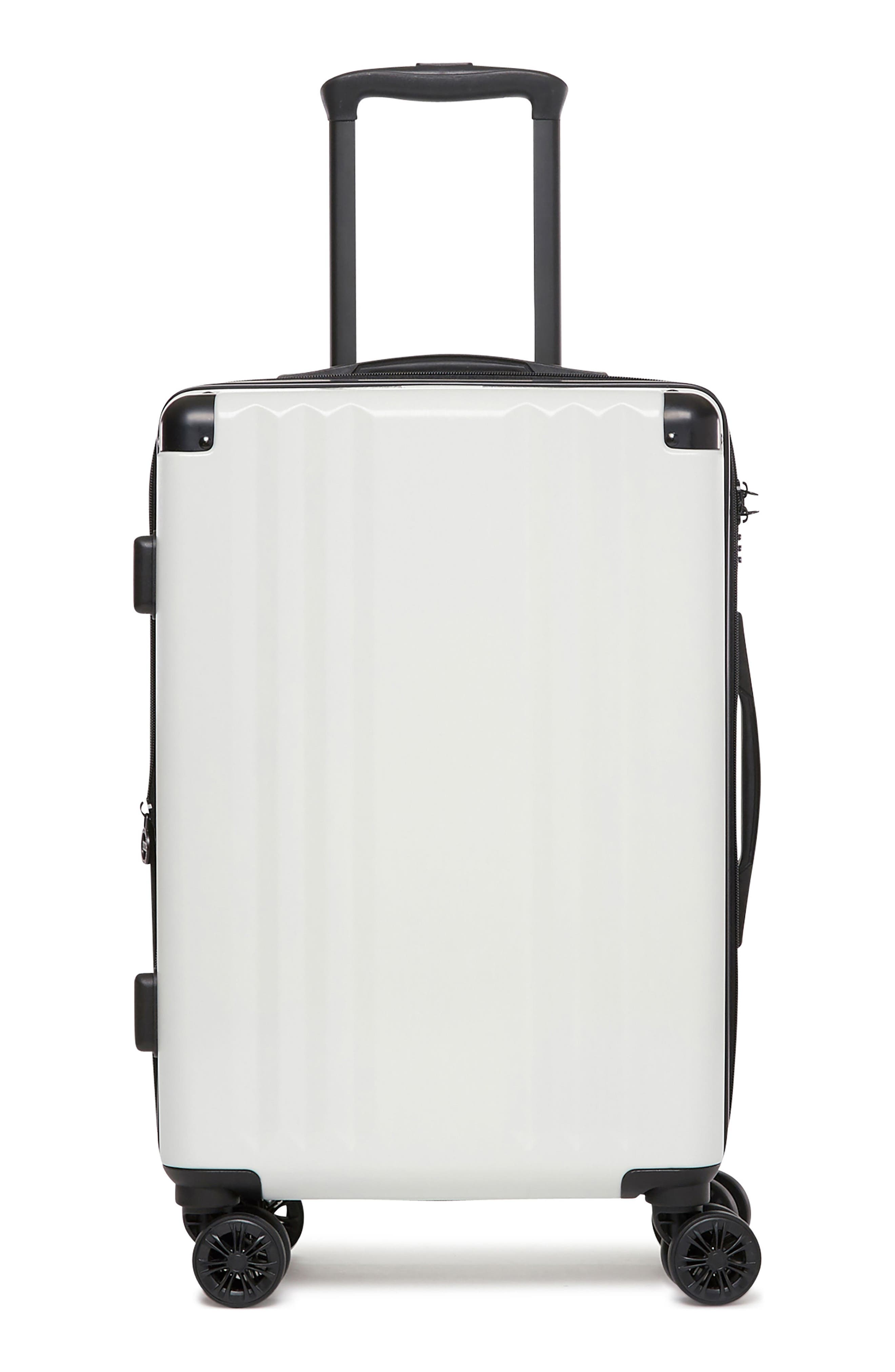 Ambeur 20-Inch Rolling Spinner Carry-On,                             Main thumbnail 1, color,                             WHITE