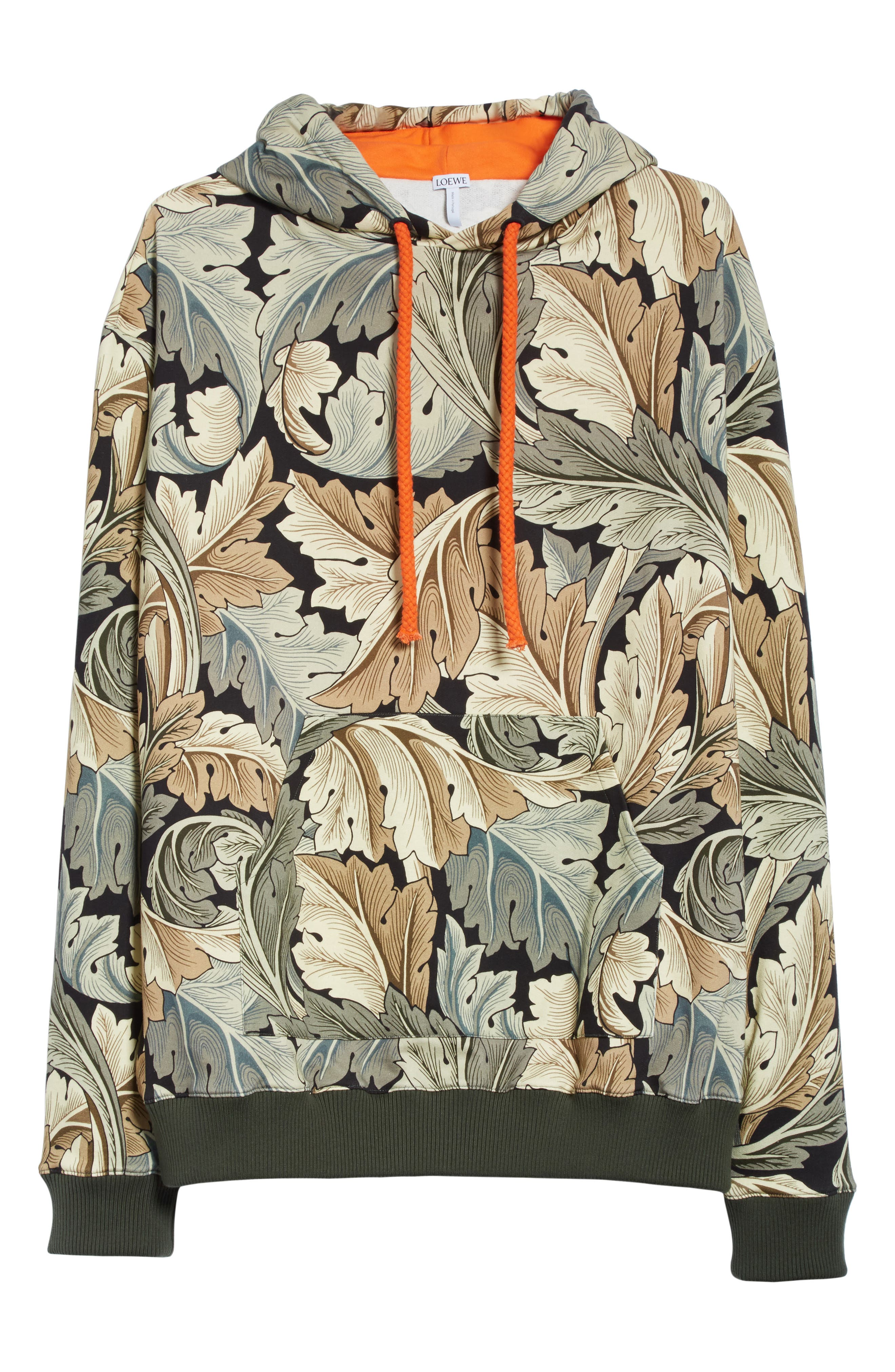 William Morris Print Oversize Hoodie,                             Alternate thumbnail 6, color,                             100