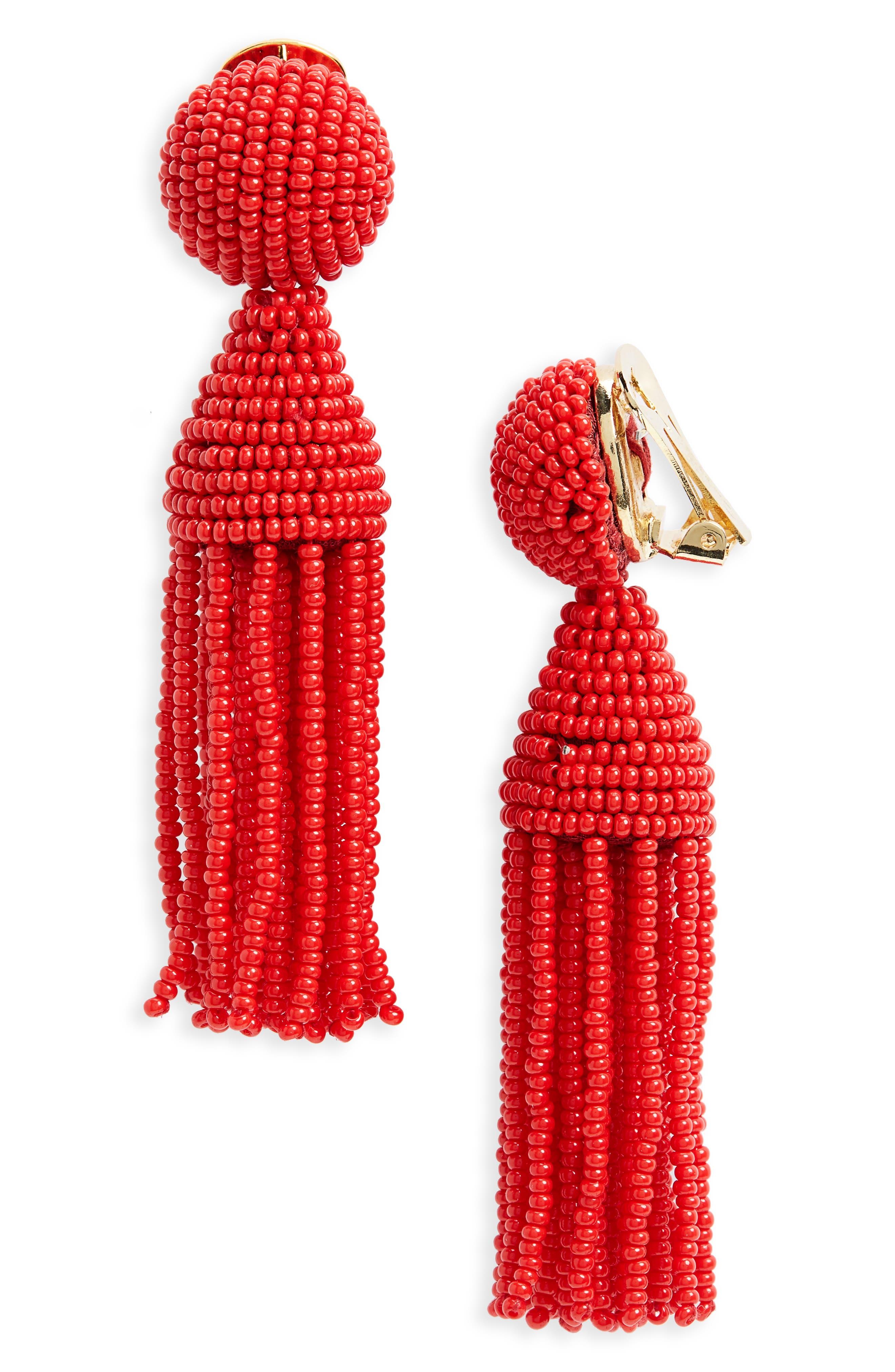 'Classic Short' Tassel Drop Clip Earrings,                             Main thumbnail 19, color,