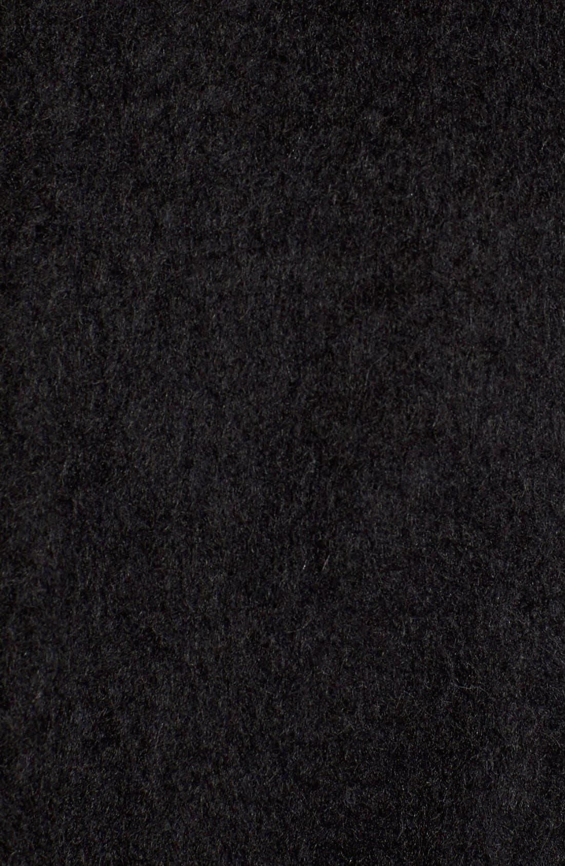 Brushed Wool Blend Fit & Flare Coat,                             Alternate thumbnail 5, color,