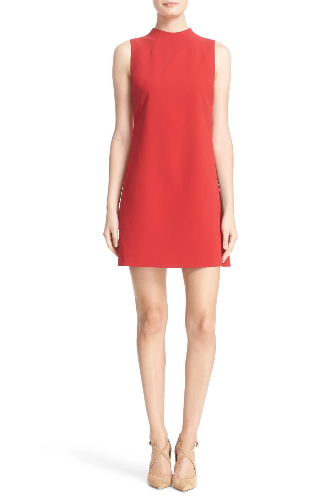 ALICE + OLIVIA,                             'Coley' Mock Neck A-Line Dress,                             Main thumbnail 1, color,                             623