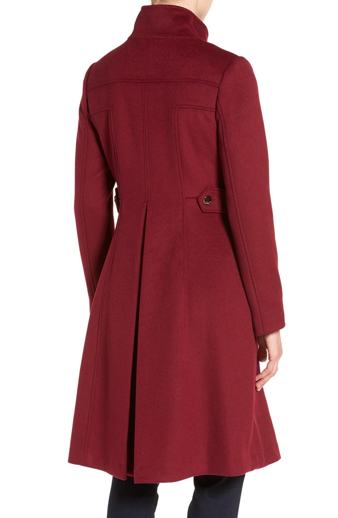 Wool Blend Long Military Coat,                             Alternate thumbnail 10, color,