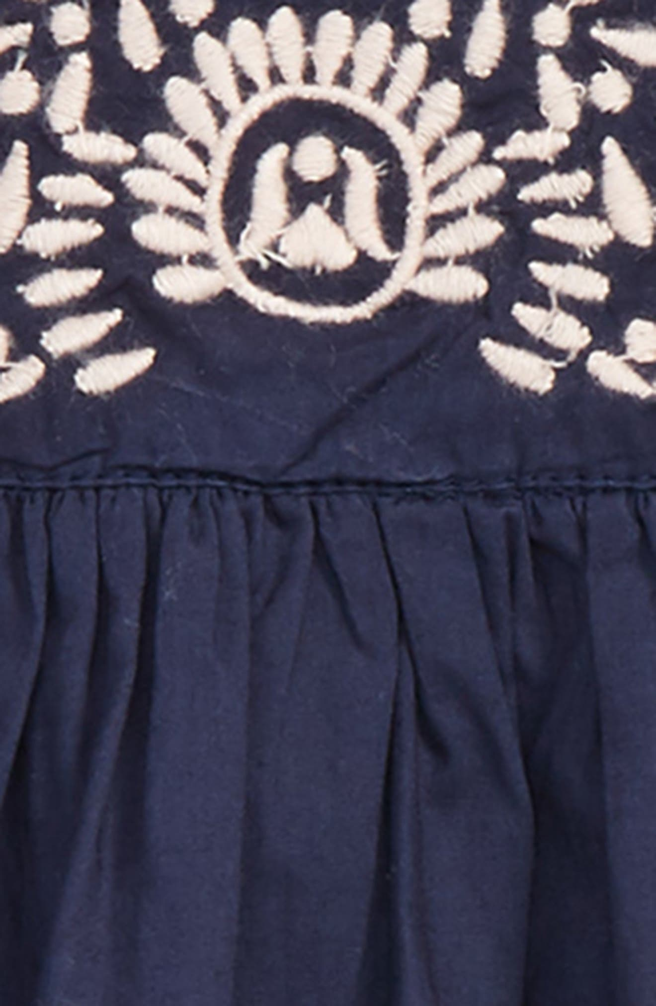 Embroidered Dress,                             Alternate thumbnail 2, color,                             NAVY PEACOAT
