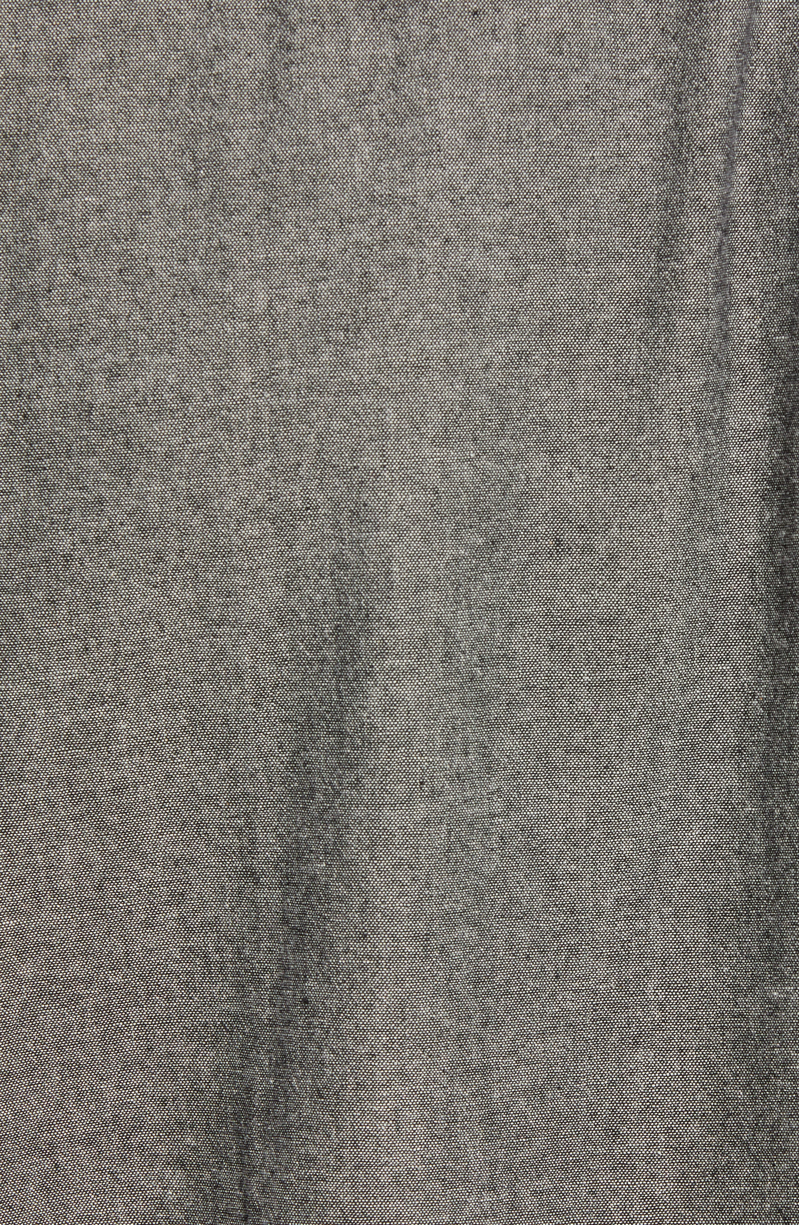 Hudson Regular Fit Chambray Sport Shirt,                             Alternate thumbnail 5, color,                             035