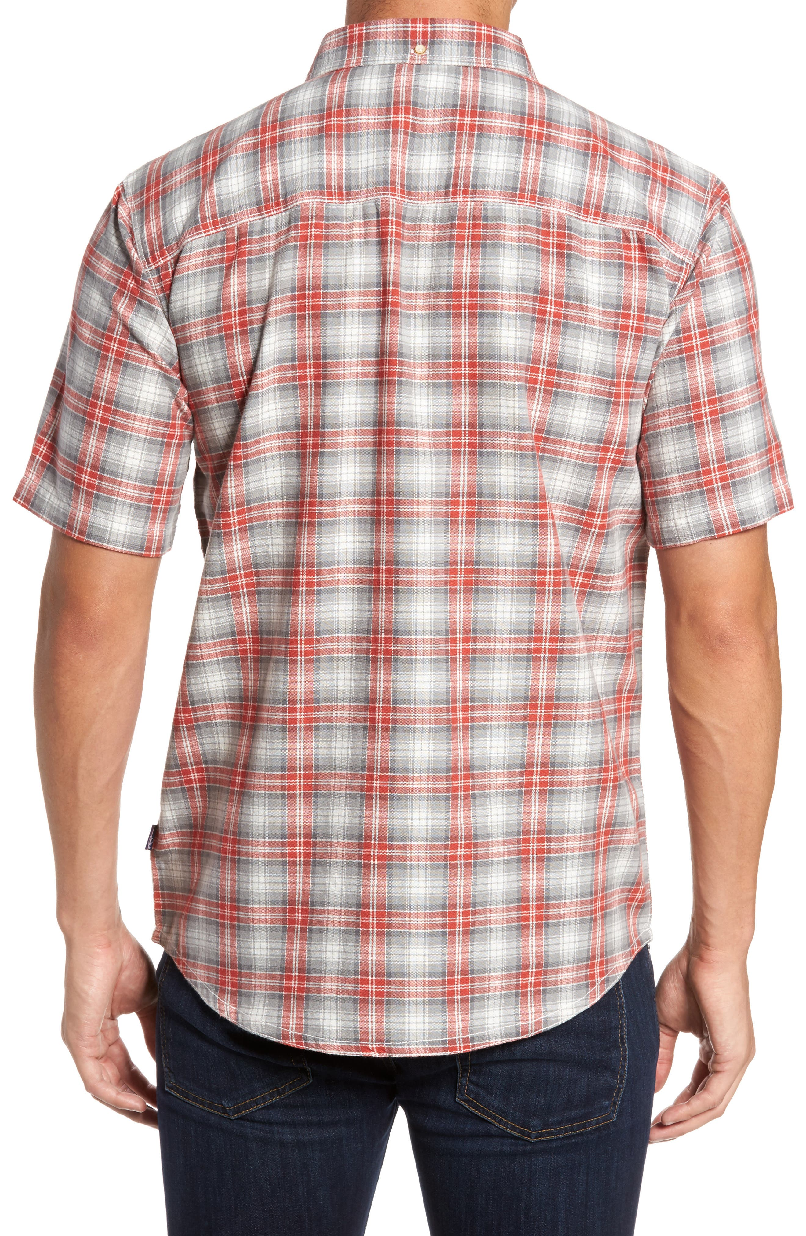 Voyager Plaid Sport Shirt,                             Alternate thumbnail 3, color,