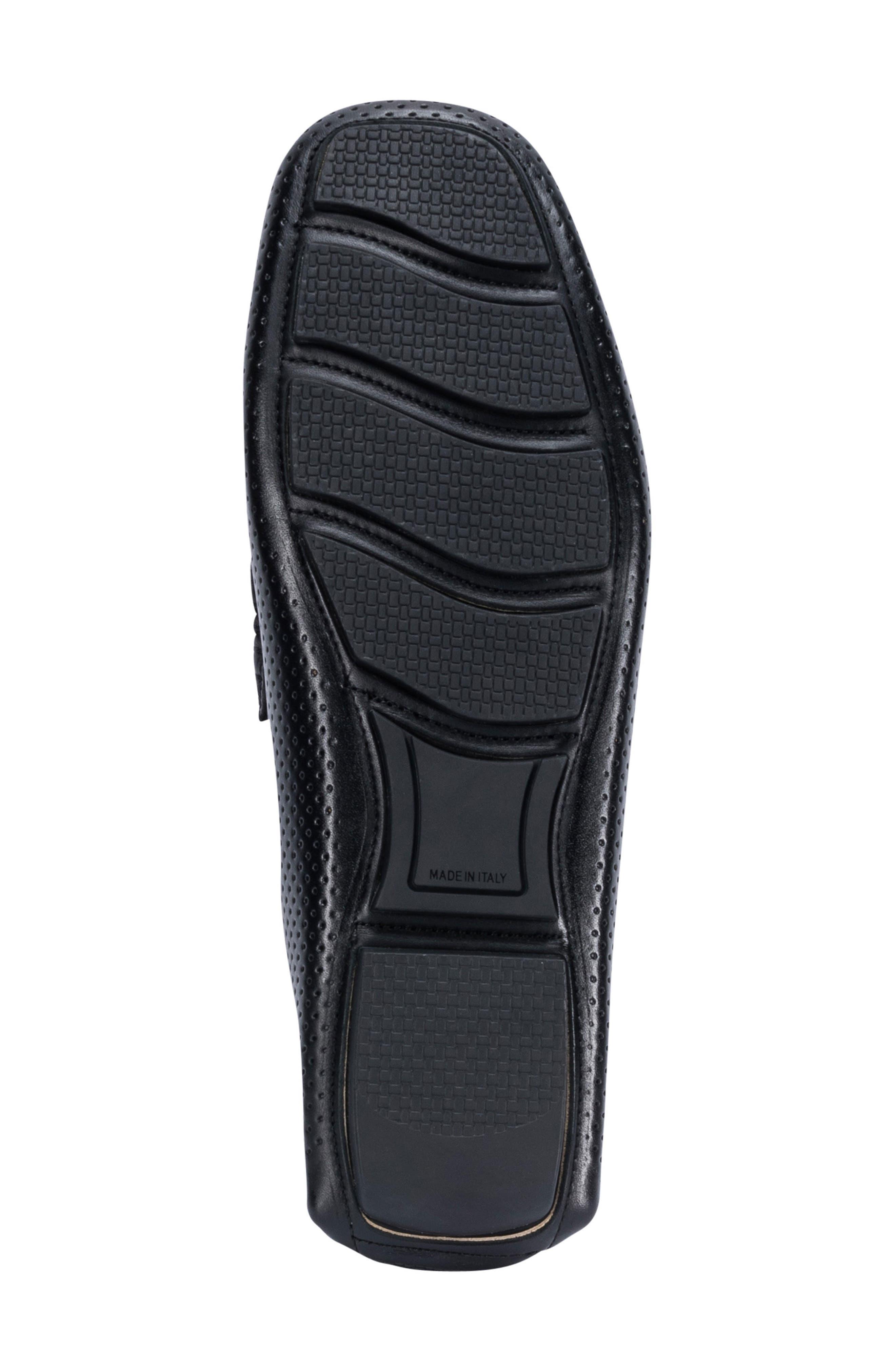 Sardegna Driving Shoe,                             Alternate thumbnail 6, color,                             BLACK