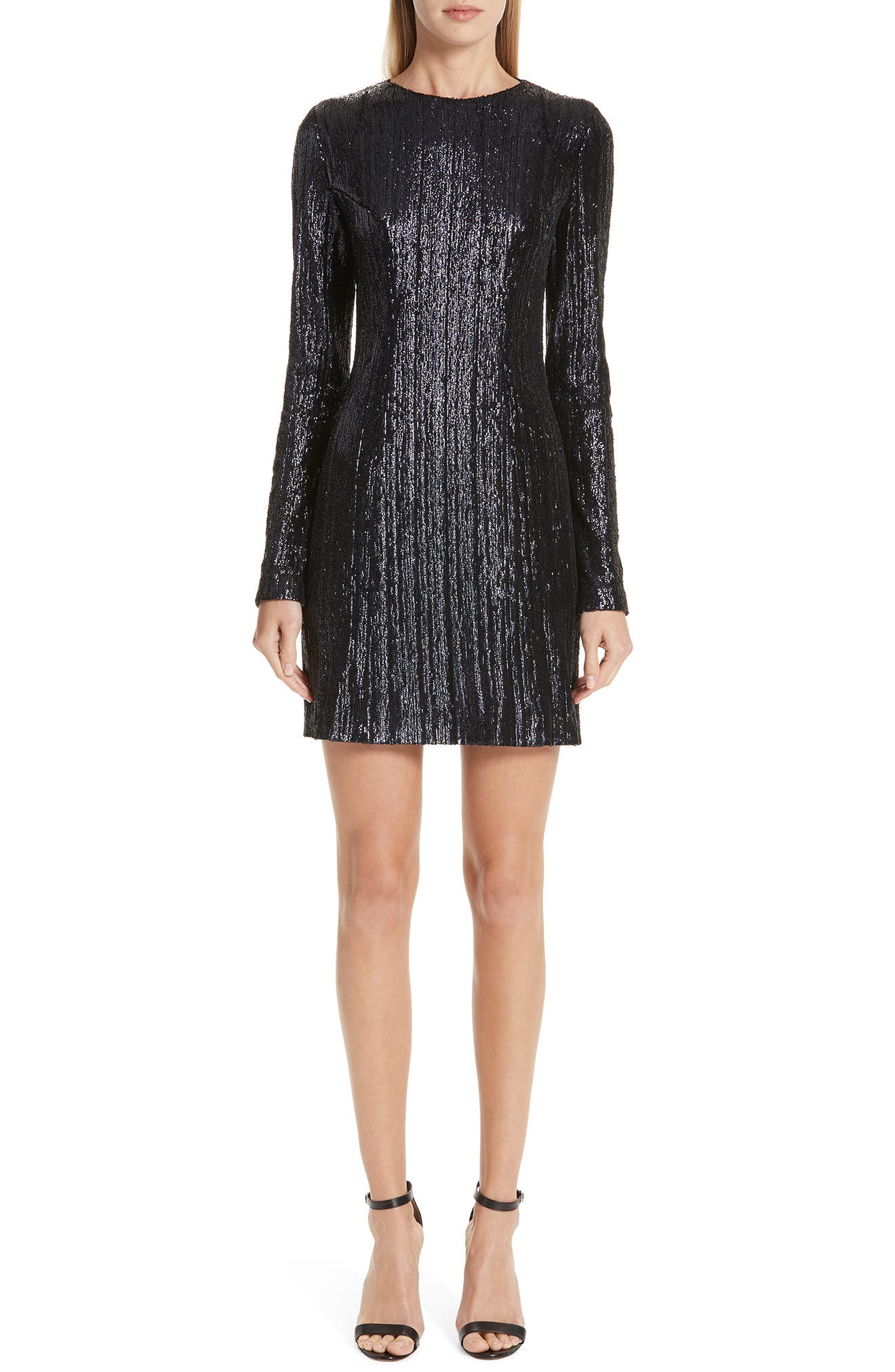 Sequin Sheath Minidress, Main, color, MIDNIGHT