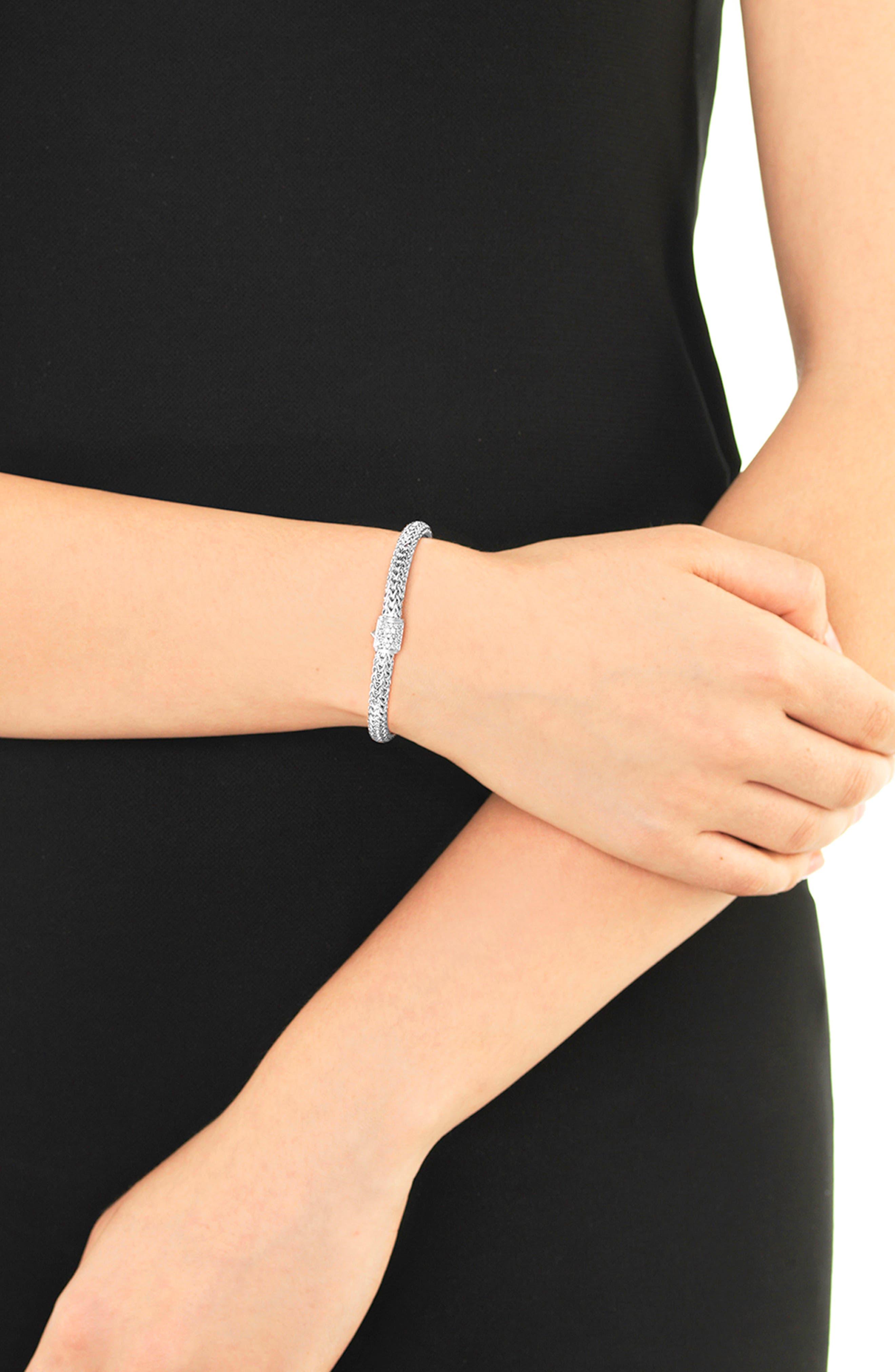 Classic Chain 5mm Diamond Bracelet,                             Alternate thumbnail 2, color,                             NO COLOR