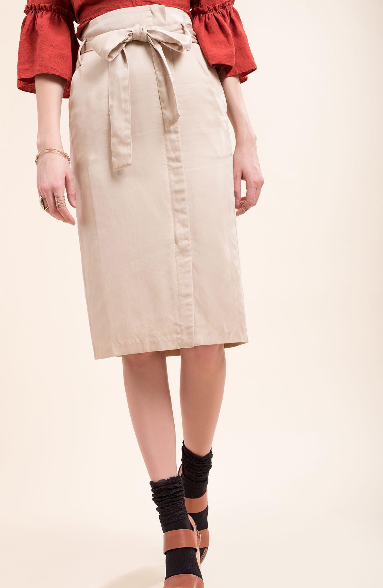 Tie Waist Pencil Skirt,                             Alternate thumbnail 7, color,                             250