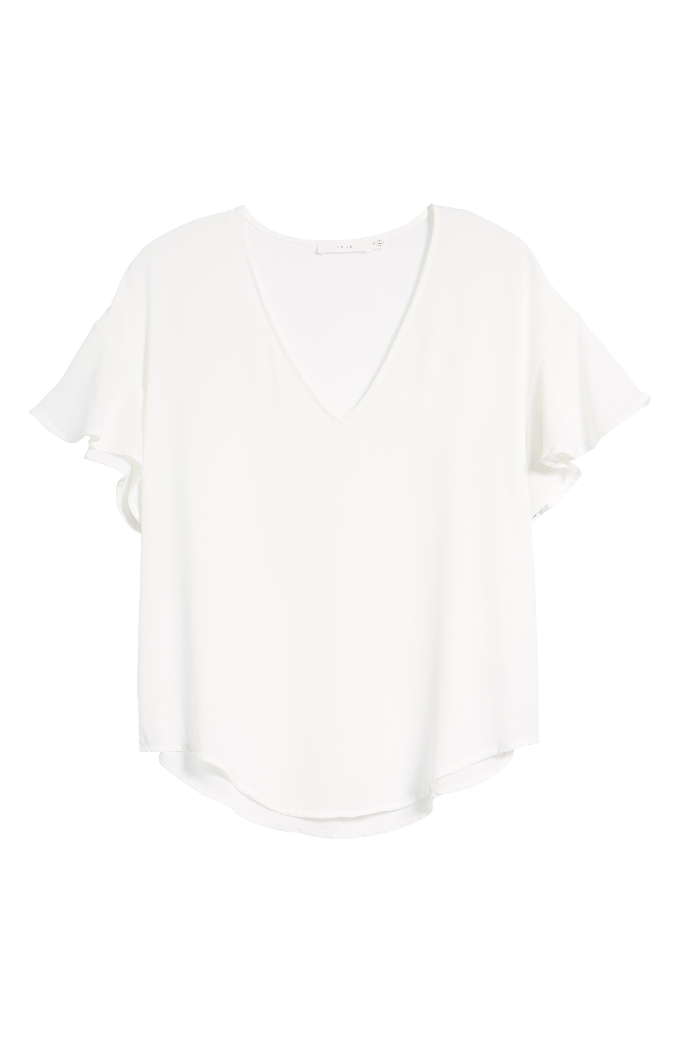 Crepe Tee,                             Alternate thumbnail 47, color,