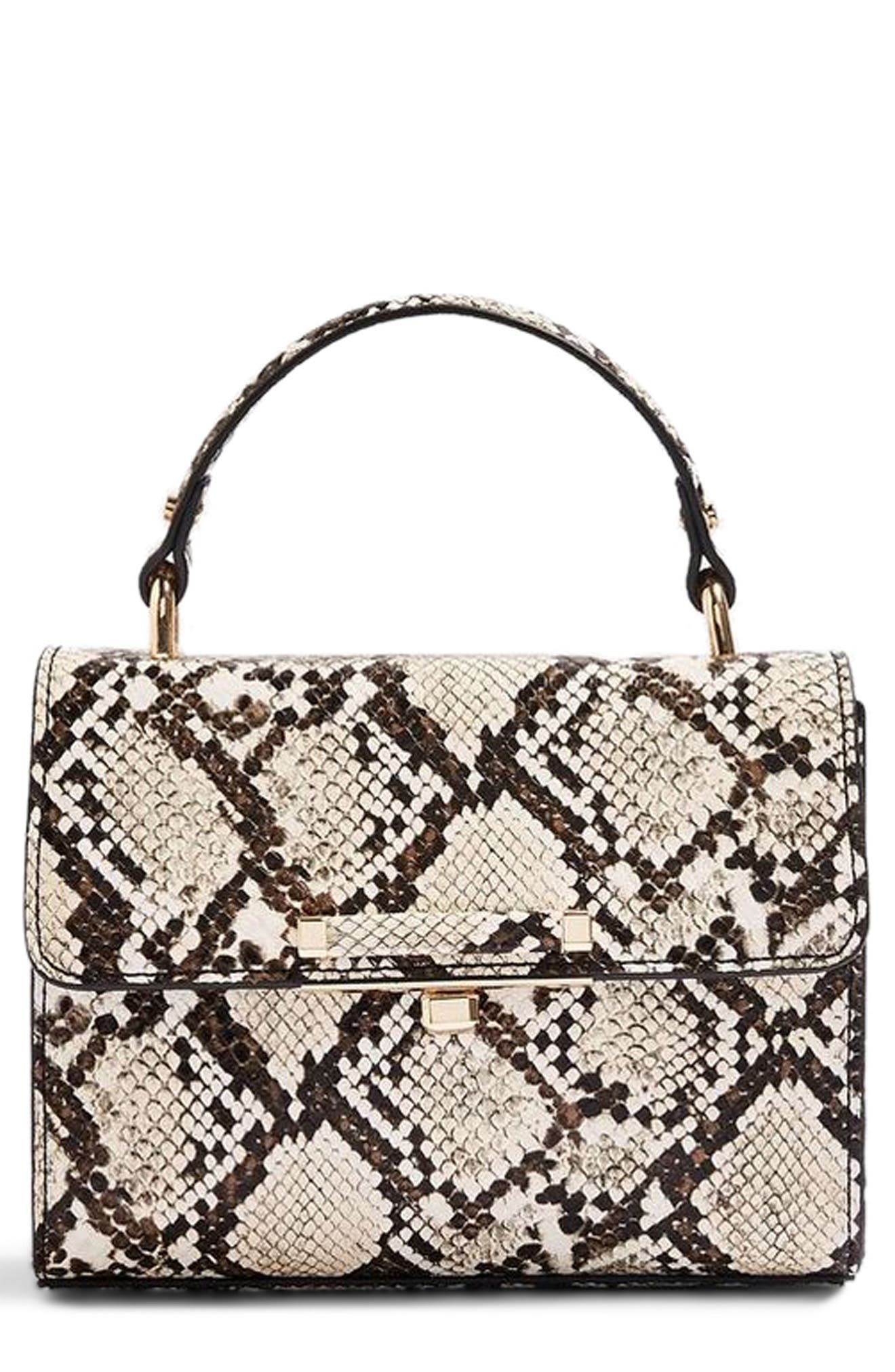 Mini Marissa Snake Embossed Top Handle Bag,                             Main thumbnail 1, color,                             250