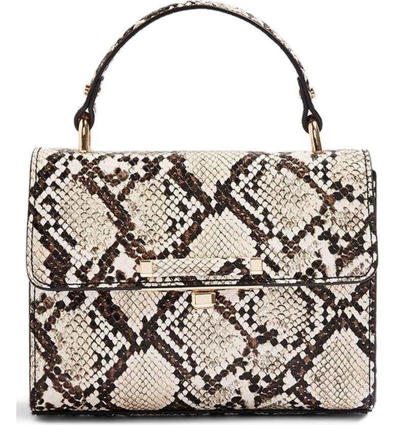 Topshop Mini Marissa Snake Embossed Top Handle Bag  4bcb69532861e