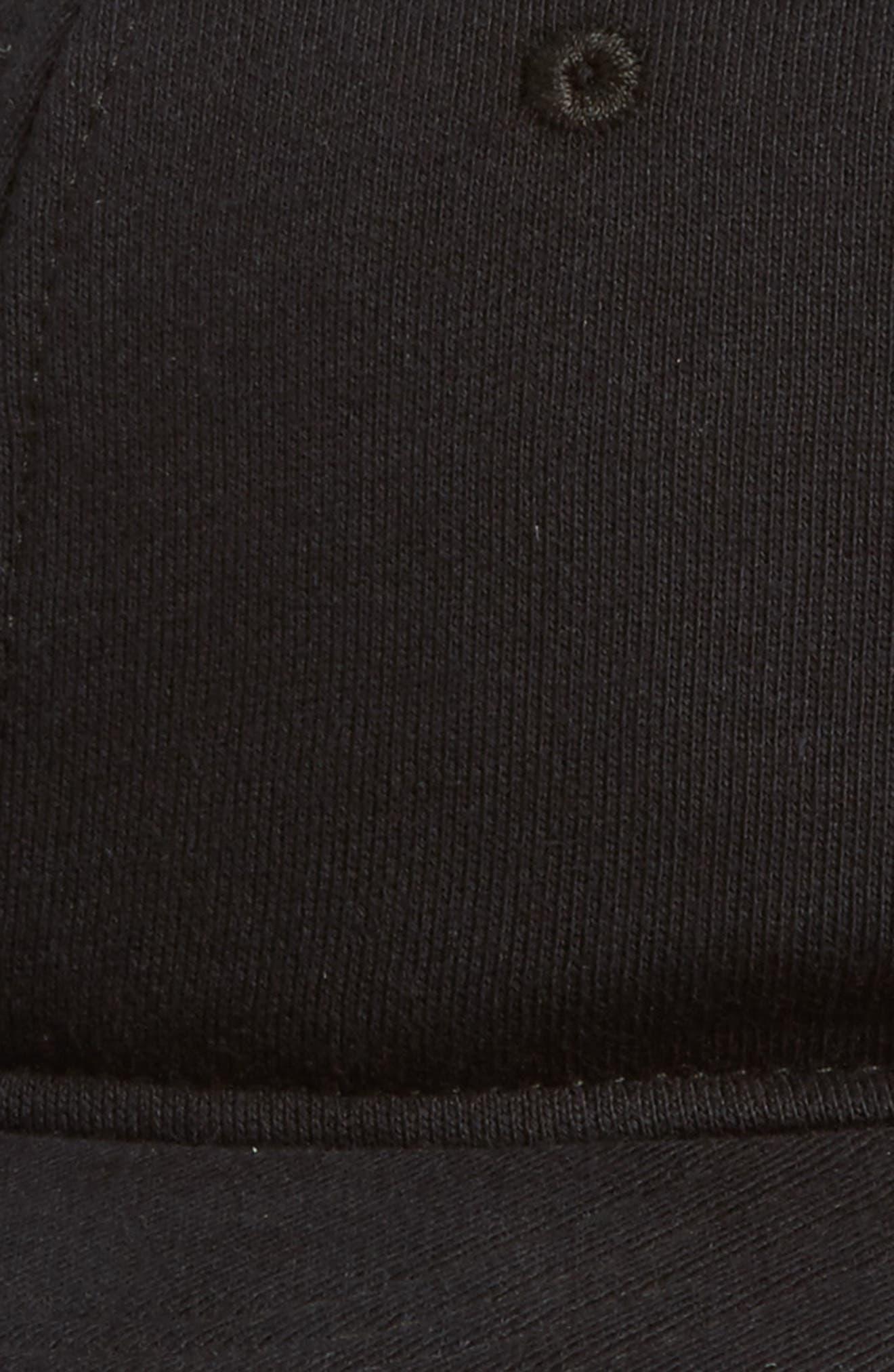 Baseball Cap,                             Alternate thumbnail 3, color,                             BLACK