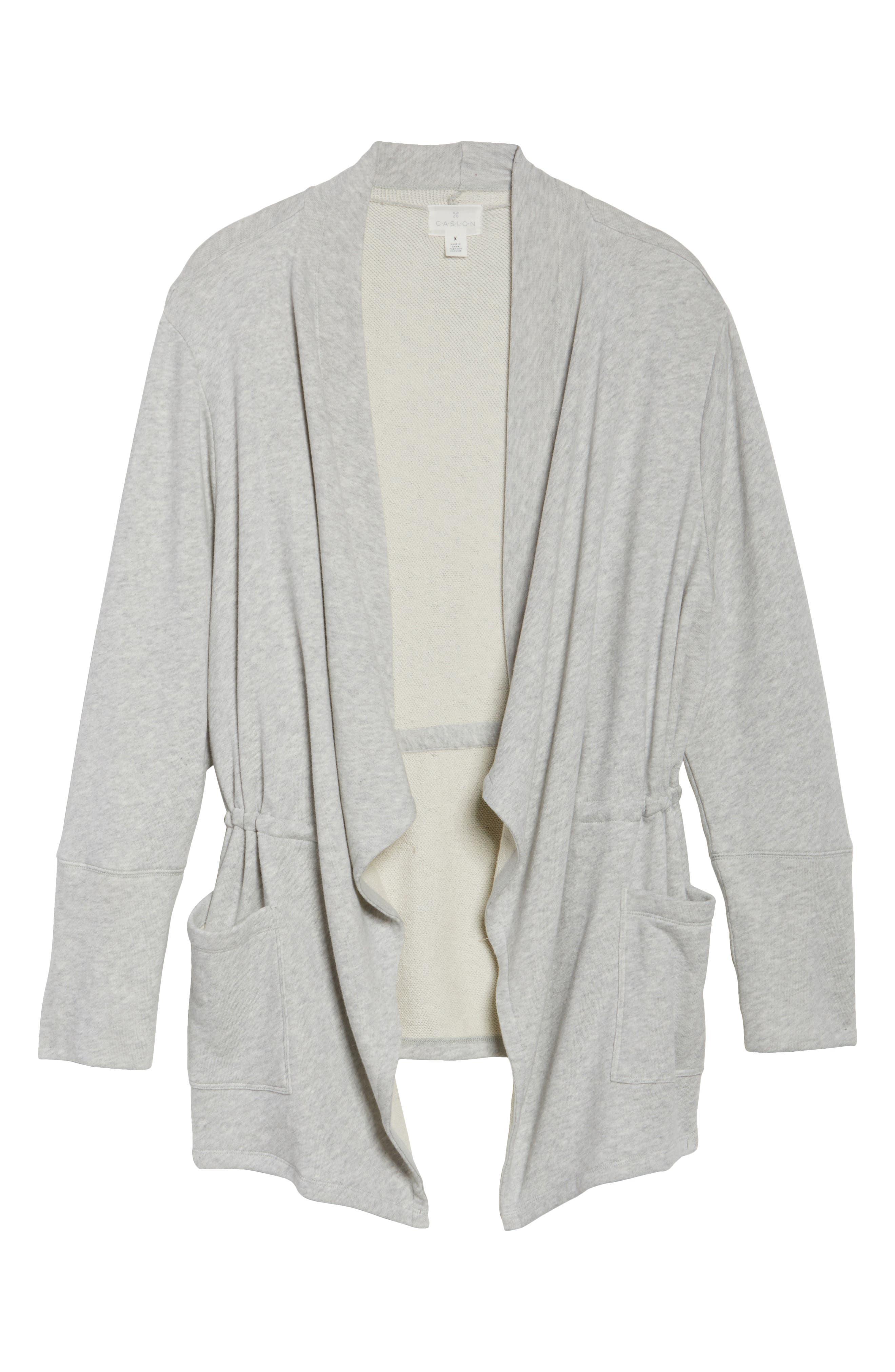 Knit Drape Front Jacket,                             Alternate thumbnail 5, color,                             050