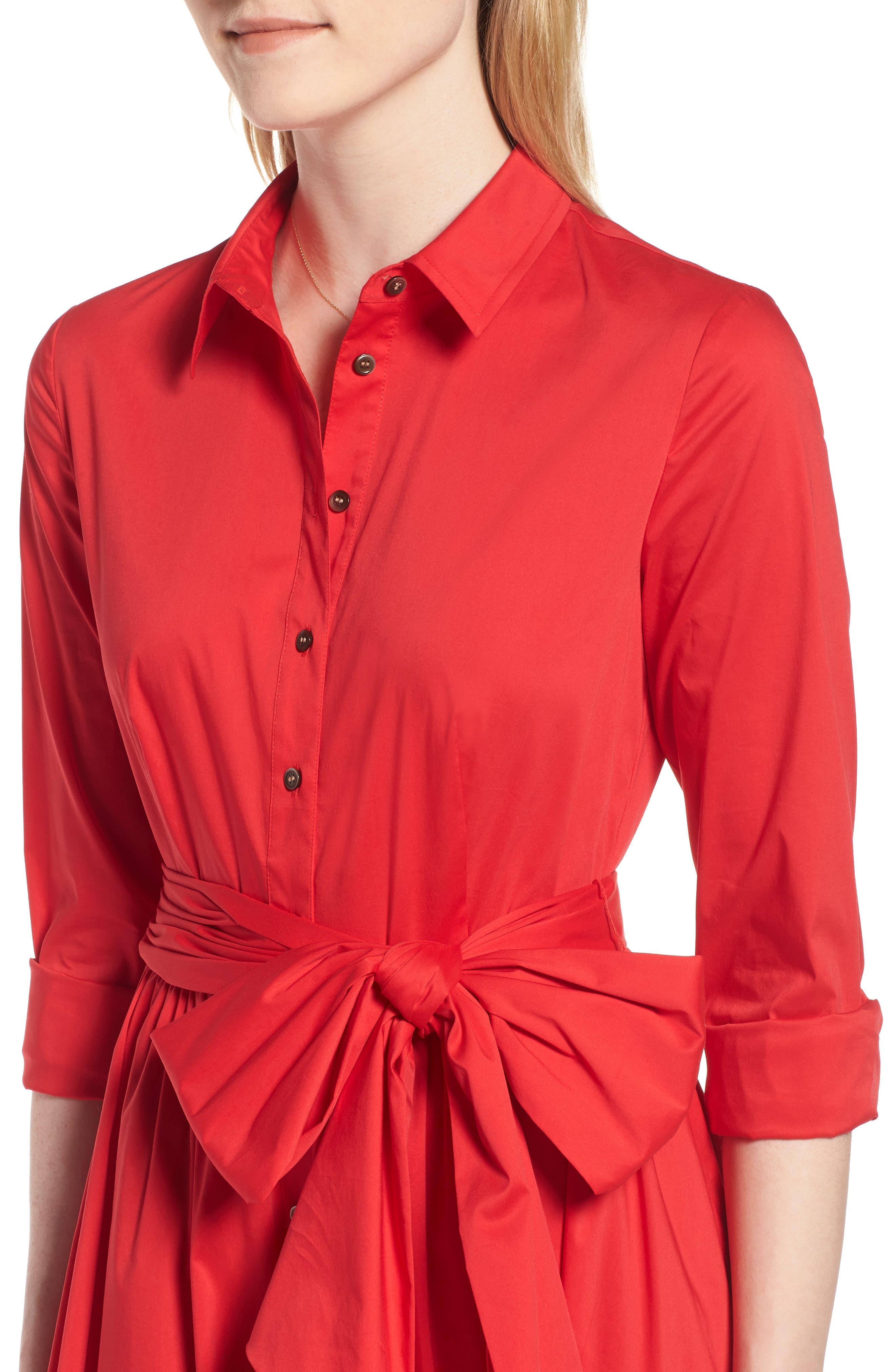 Midi Shirtdress,                             Alternate thumbnail 13, color,