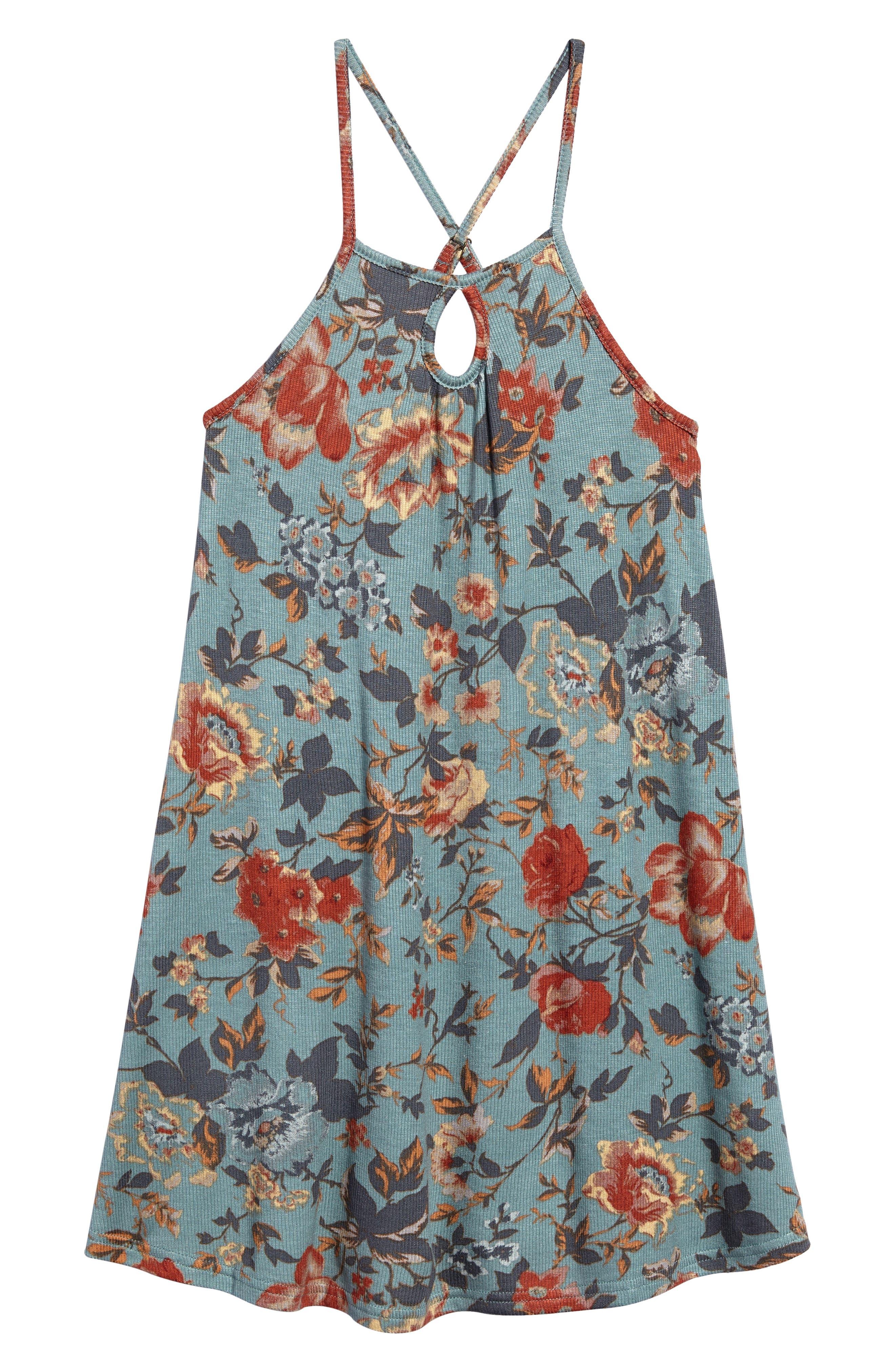 Devy Rib Knit Tank Dress,                         Main,                         color, 400