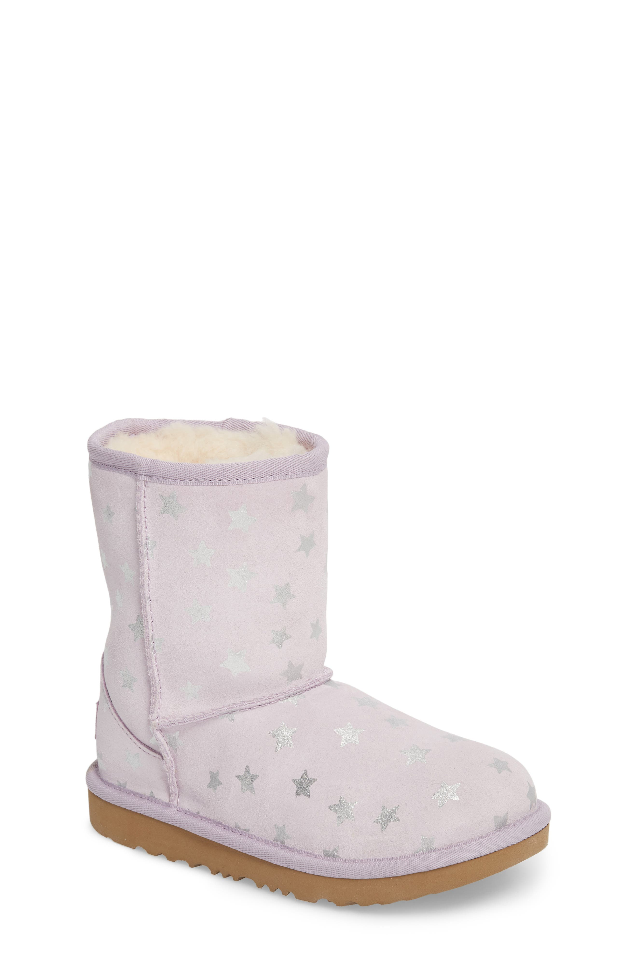 Classic Short II Water Resistant Stars Boot,                             Main thumbnail 1, color,                             LILAC