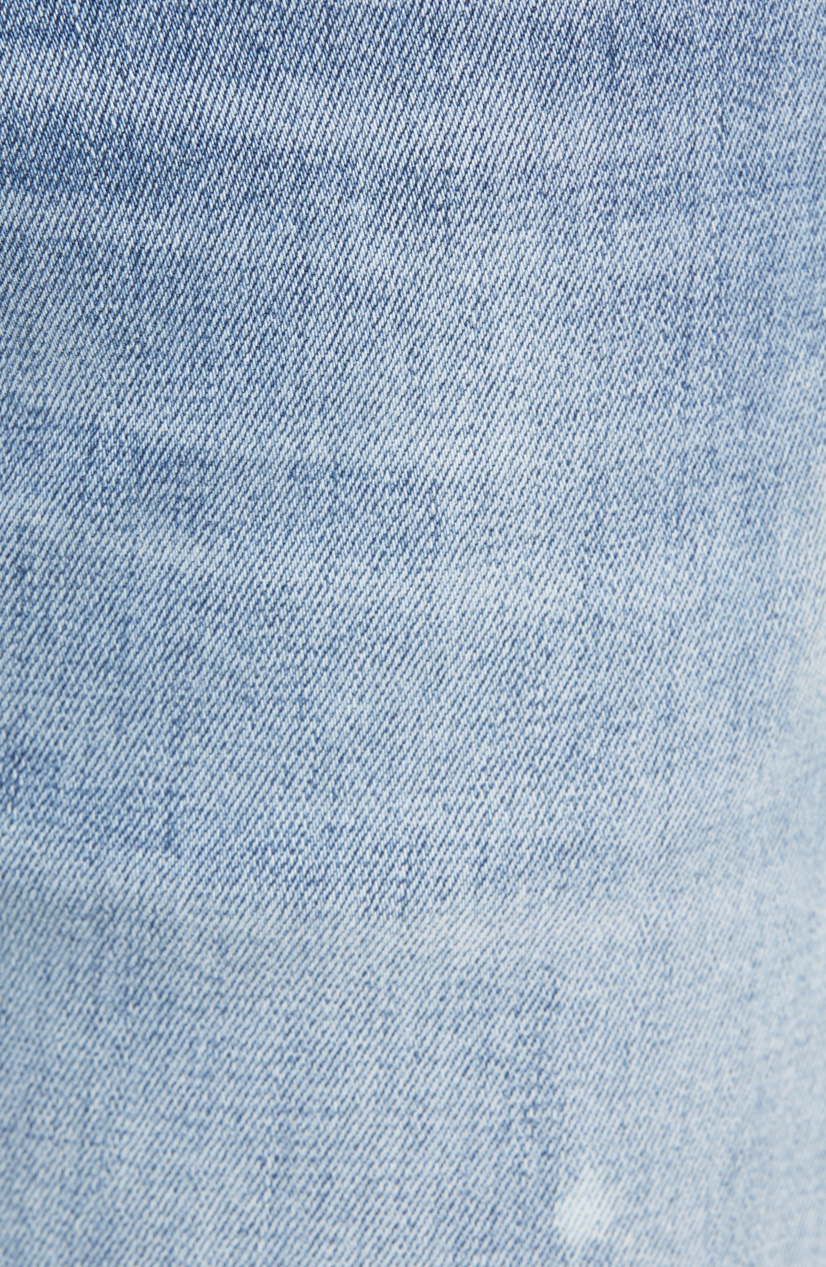 Destroyer Ripped Slim Fit Jeans,                             Alternate thumbnail 5, color,                             BLUE