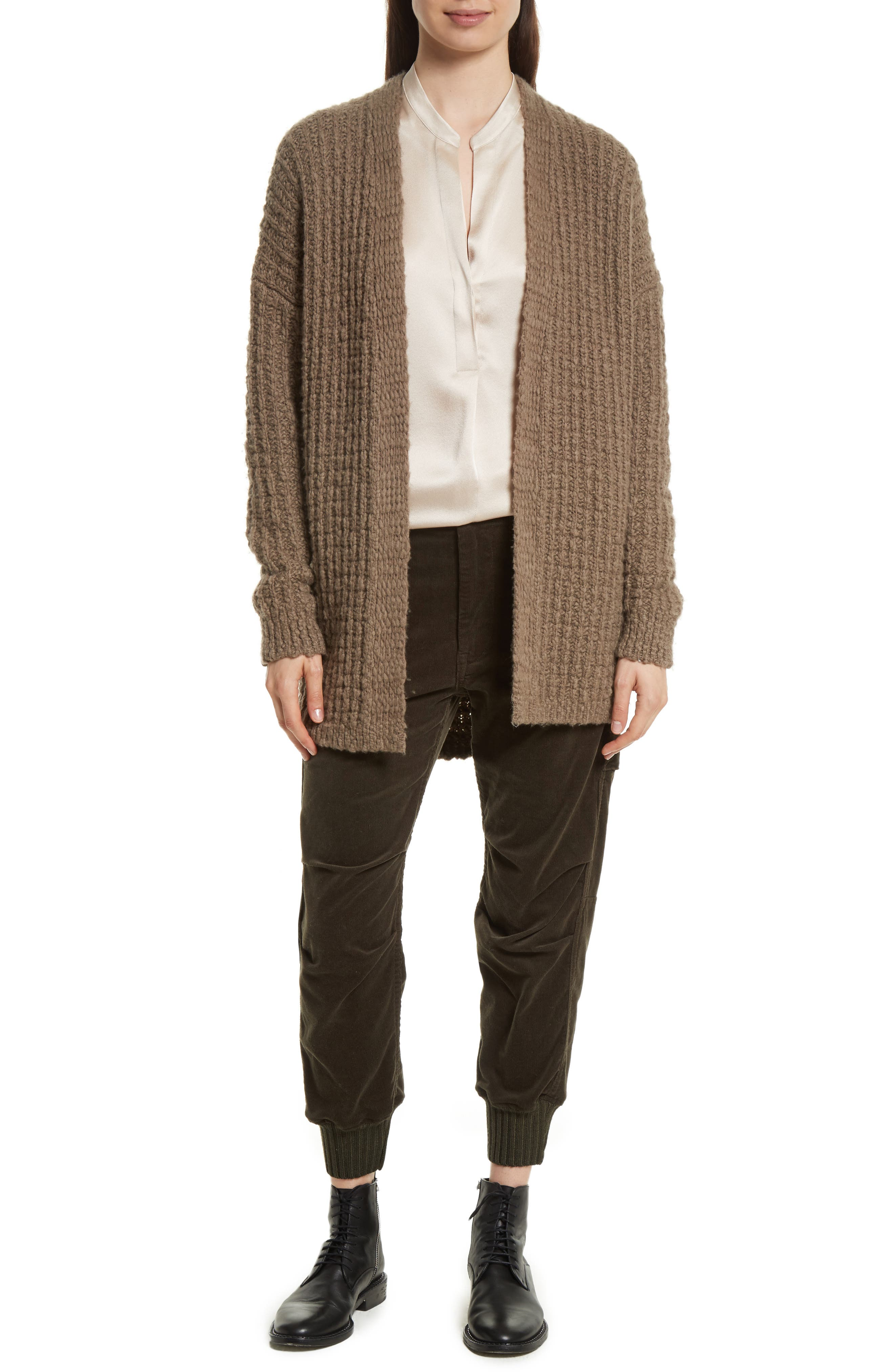 Waffle Stitch Cardigan,                             Alternate thumbnail 7, color,                             206
