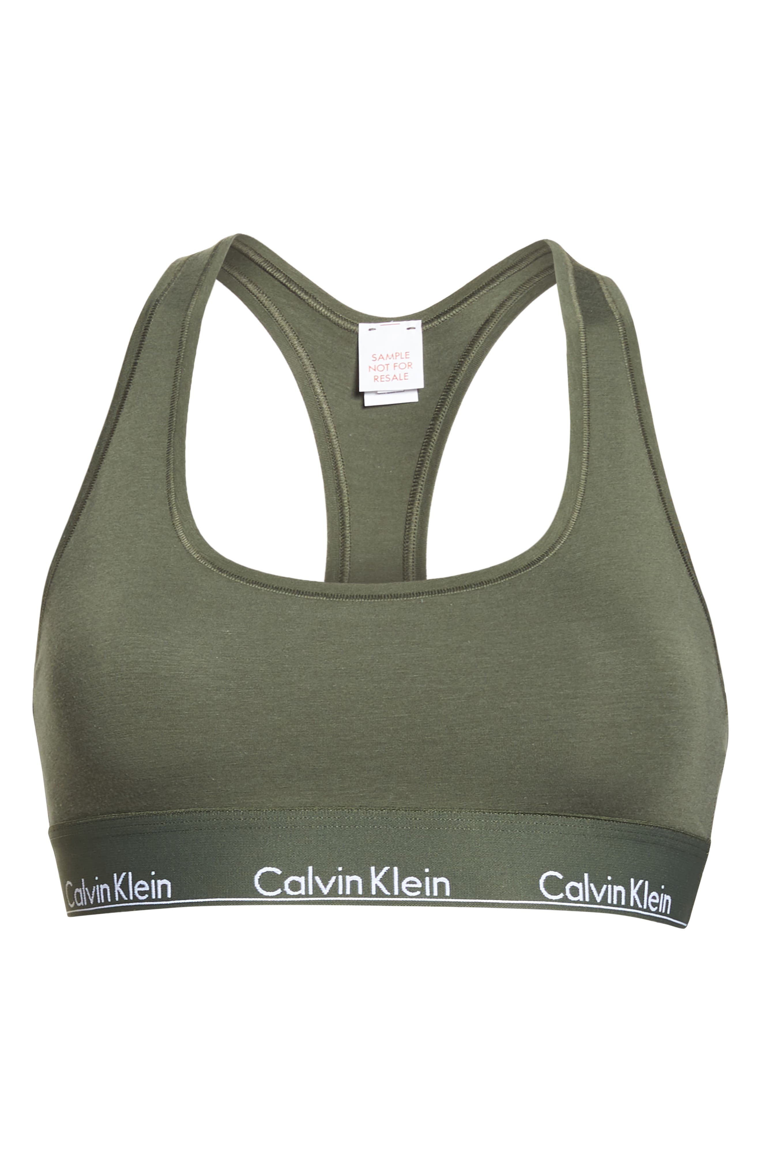 Modern Cotton Collection Cotton Blend Racerback Bralette,                             Alternate thumbnail 8, color,                             388
