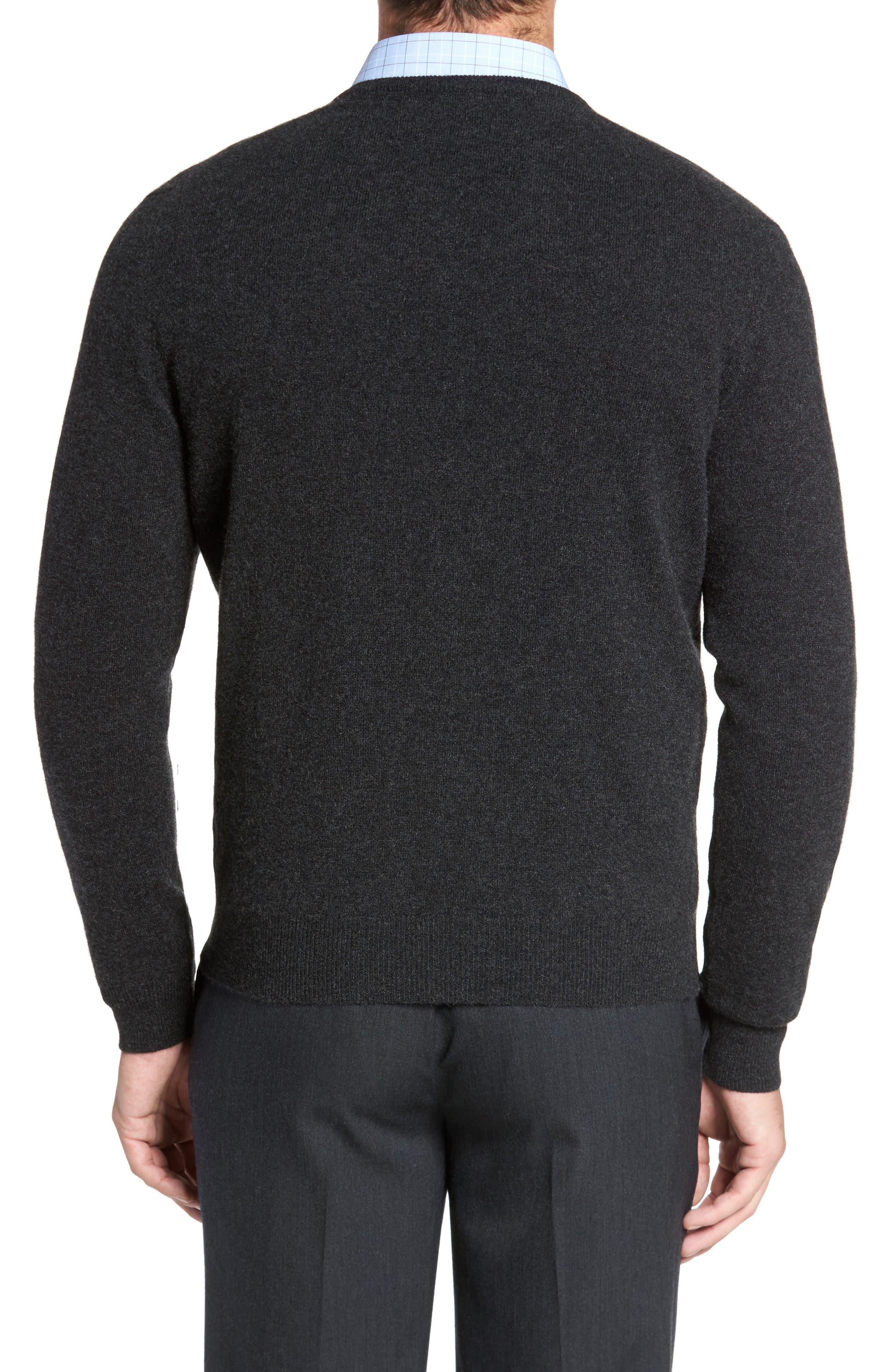 Cashmere V-Neck Sweater,                             Alternate thumbnail 7, color,
