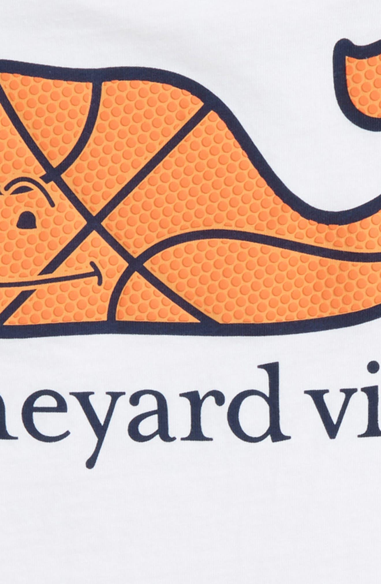 Basketball Whale T-Shirt,                             Alternate thumbnail 3, color,                             100