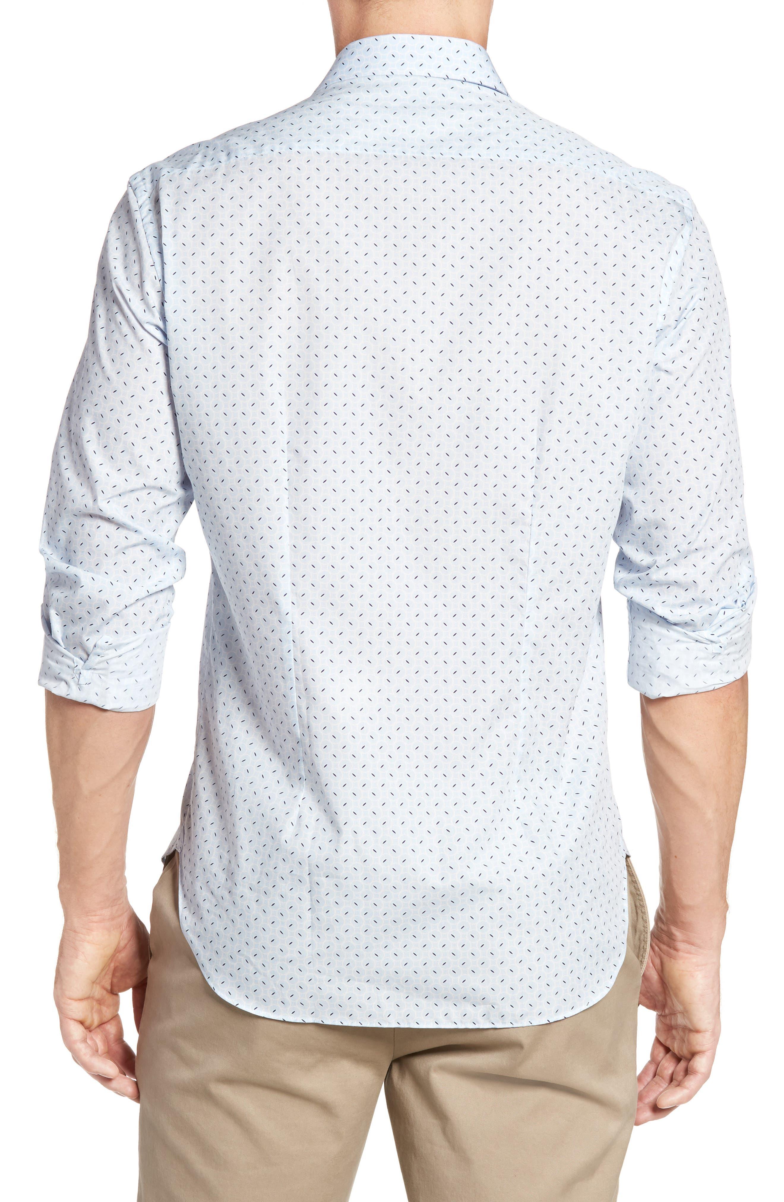 Slim Fit Retro Print Sport Shirt,                             Alternate thumbnail 2, color,                             400