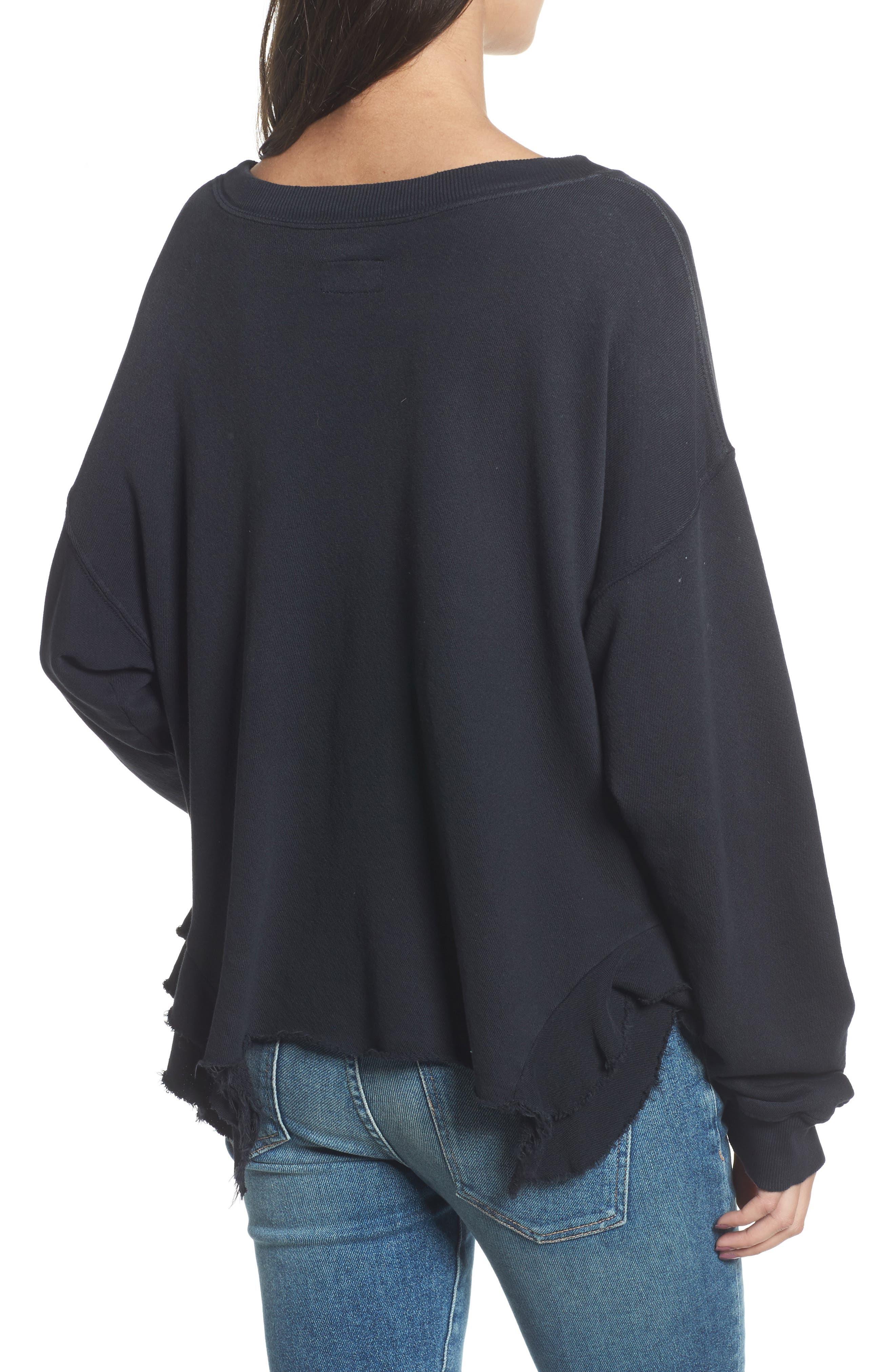 The Slouchy Ruffle Sweatshirt,                             Alternate thumbnail 2, color,                             006
