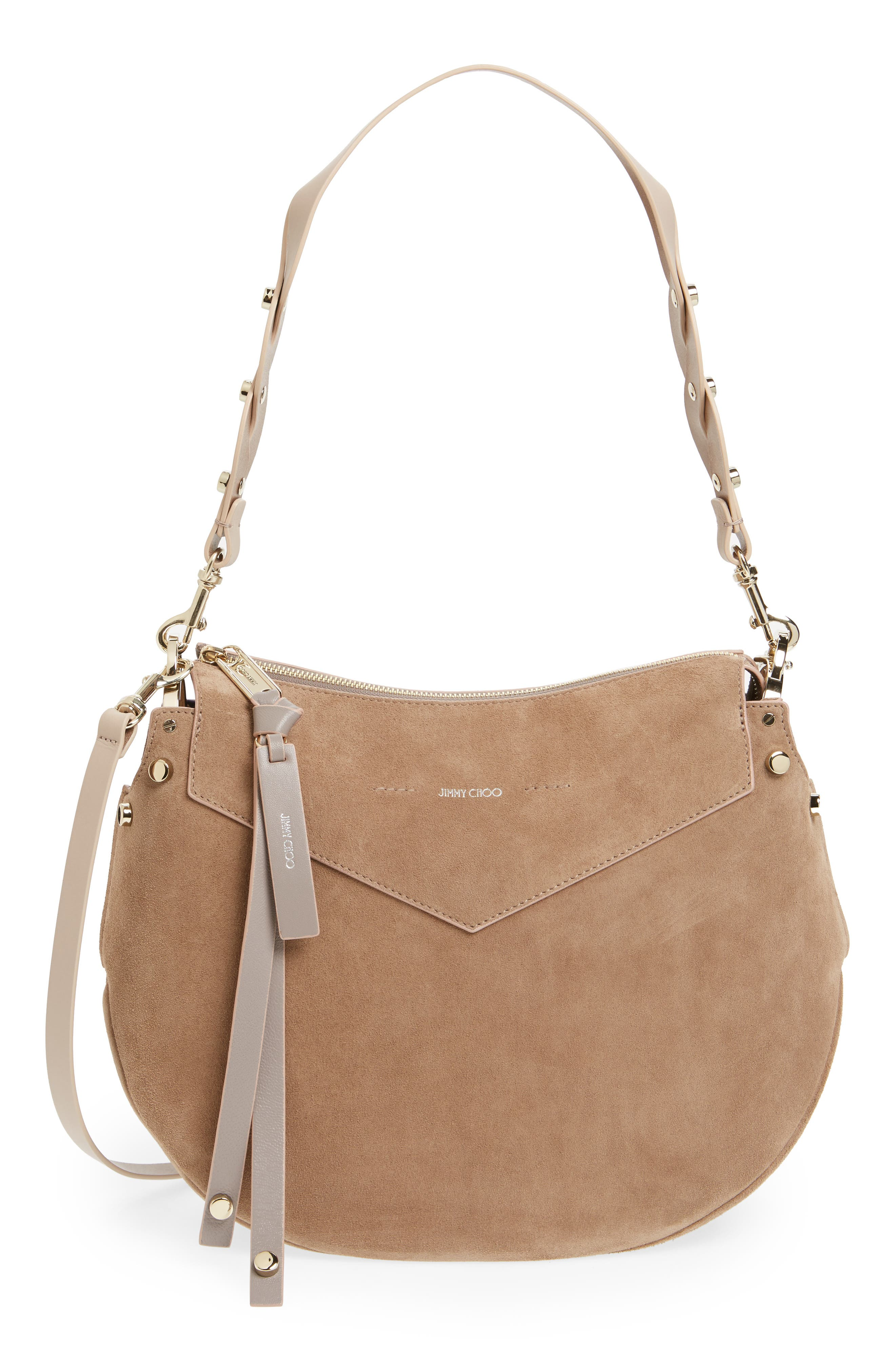 Artie Suede Hobo Bag,                             Main thumbnail 3, color,