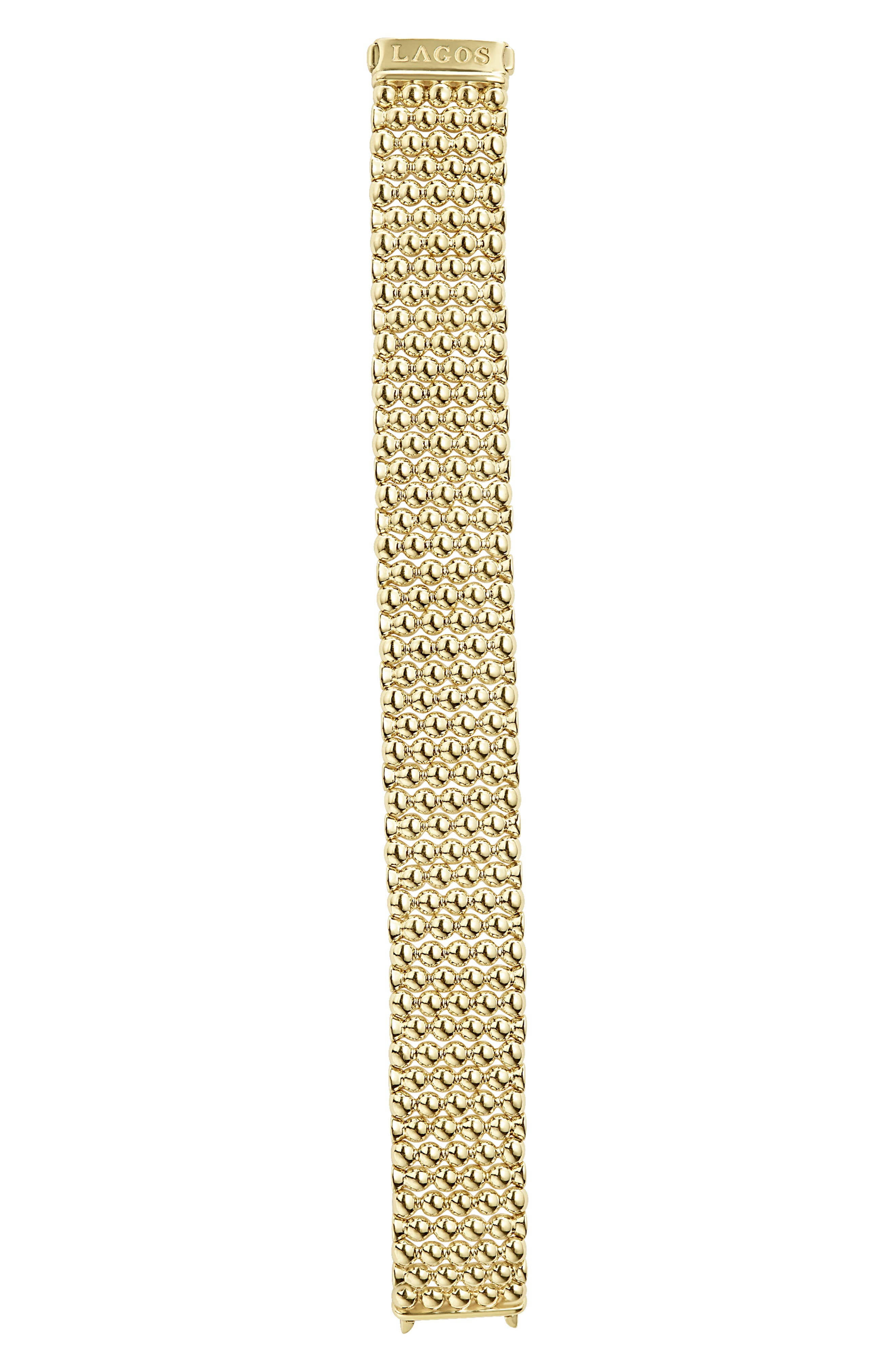 LAGOS,                             Caviar Gold Bold Wide Rope Bracelet,                             Alternate thumbnail 6, color,                             GOLD
