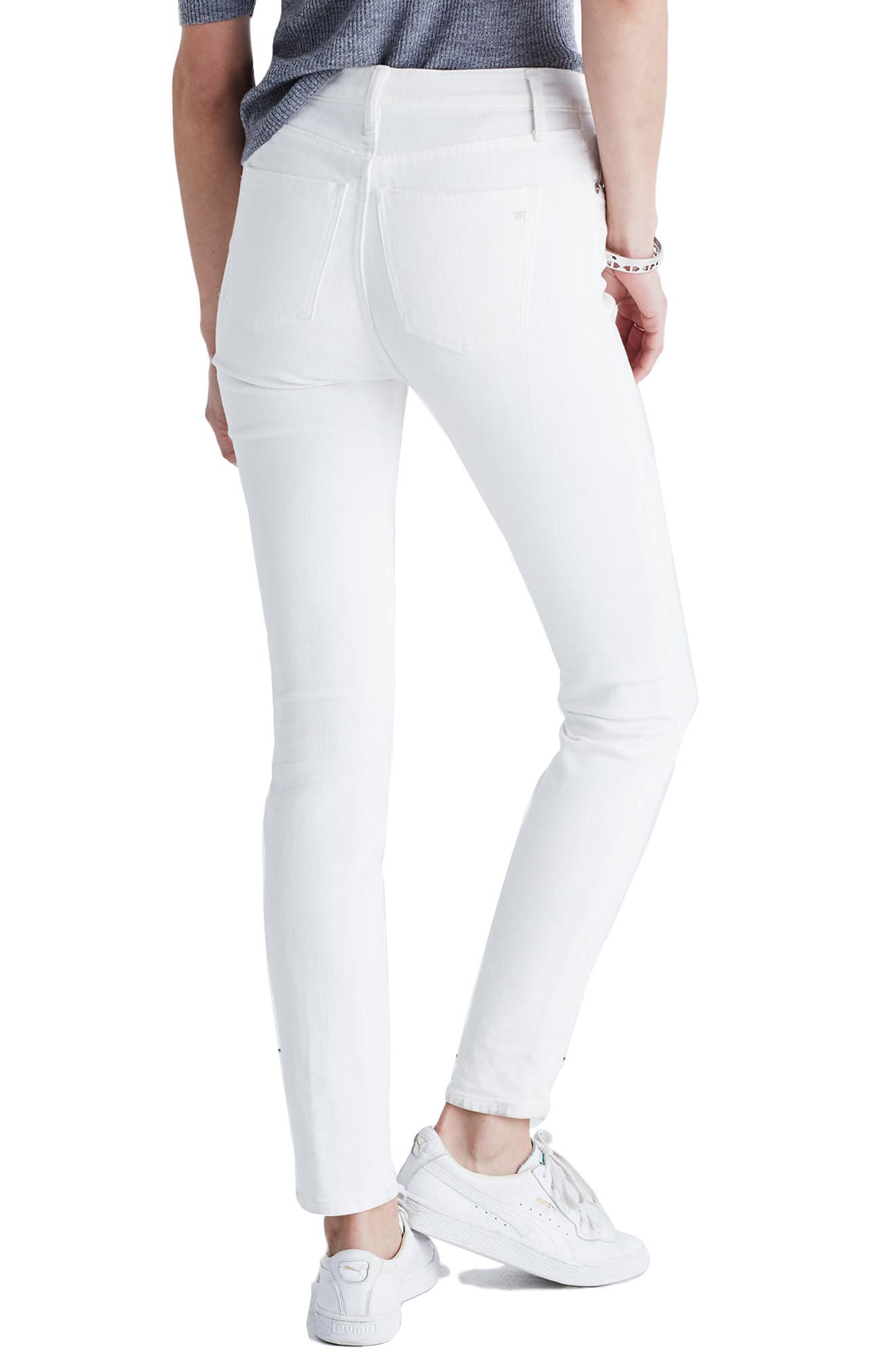 MADEWELL,                             9-Inch High-Rise Skinny Jeans,                             Alternate thumbnail 2, color,                             100