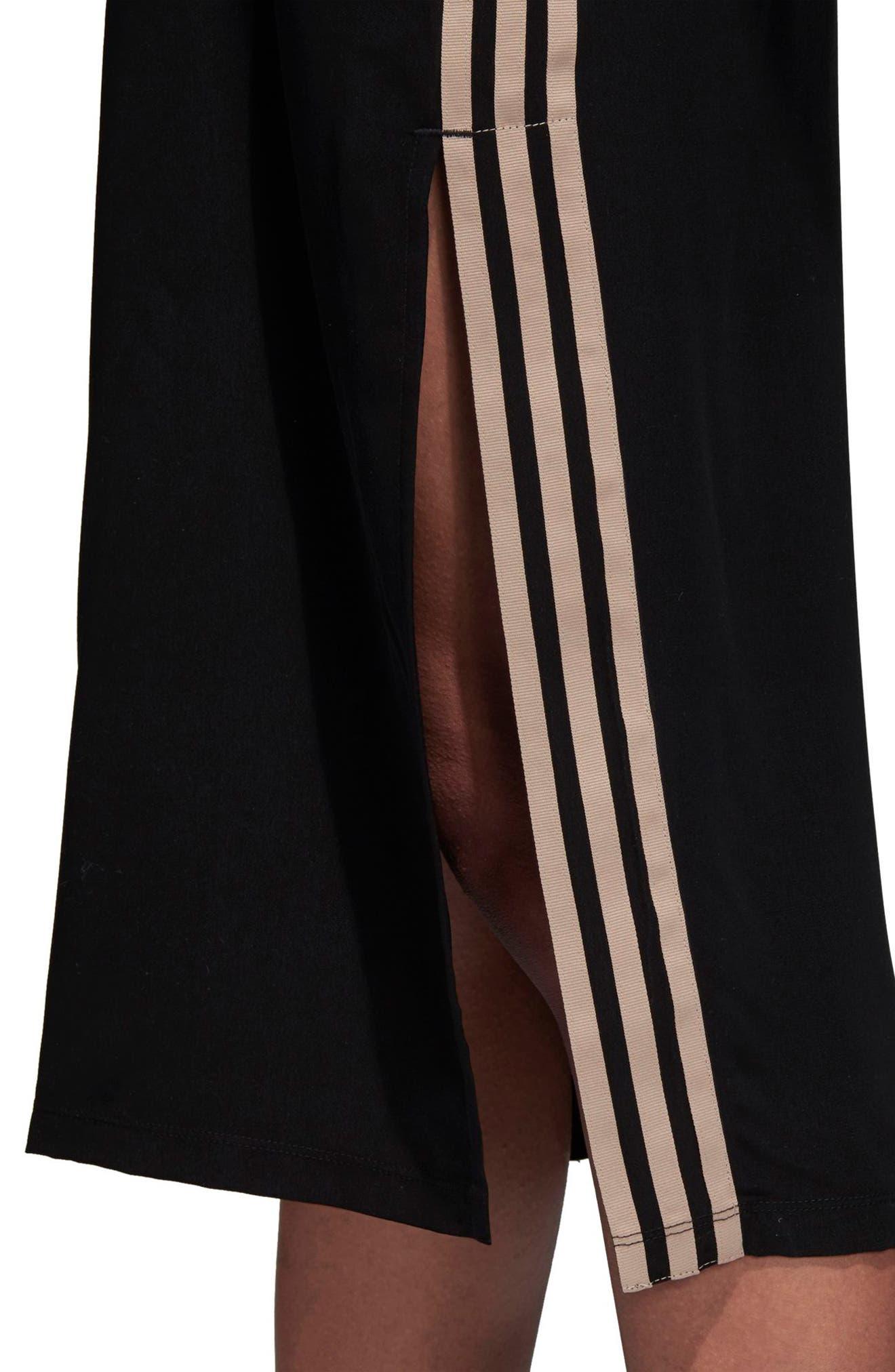 ADIDAS ORIGINALS,                             Midi Skirt with Shoulder Straps,                             Alternate thumbnail 6, color,                             001