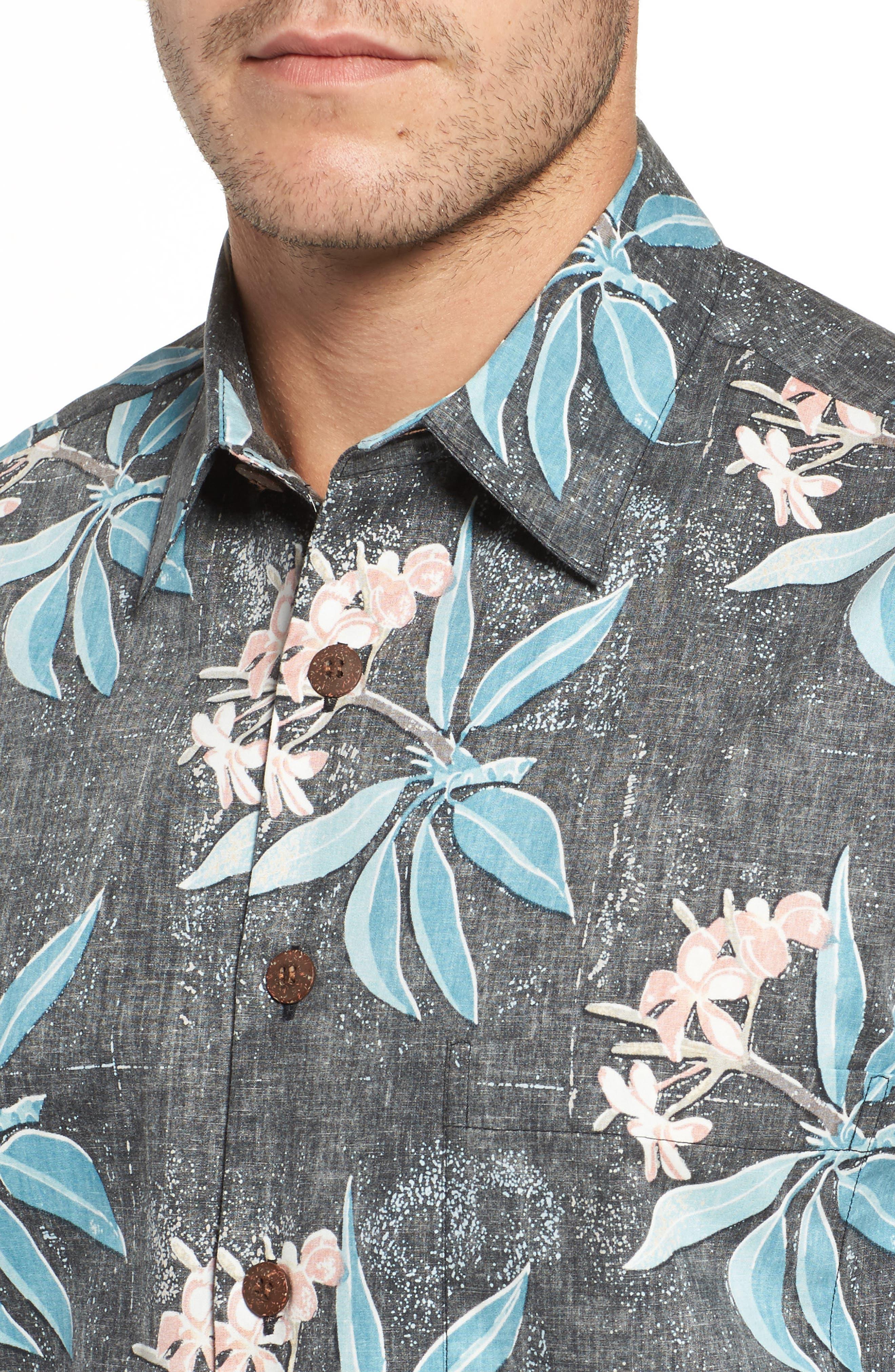 Pua Classic Fit Print Sport Shirt,                             Alternate thumbnail 4, color,                             001