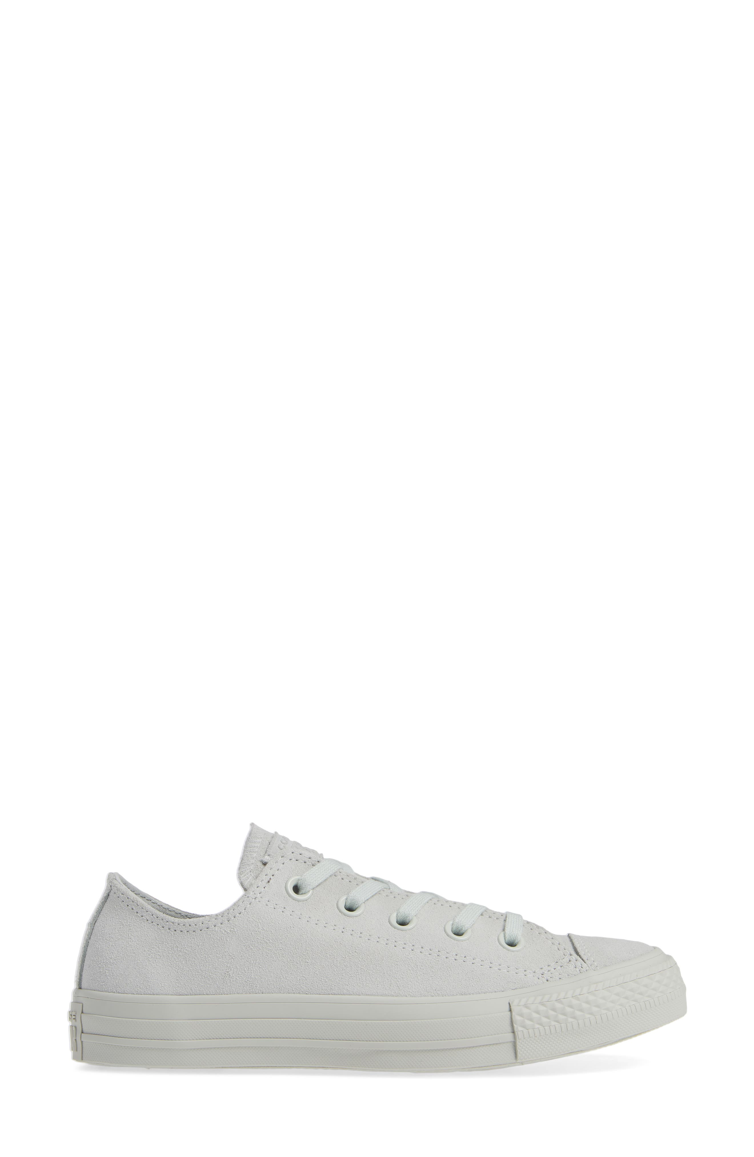 Chuck Taylor<sup>®</sup> All Star<sup>®</sup> Ox Sneaker,                             Alternate thumbnail 3, color,                             LIGHT SILVER SUEDE