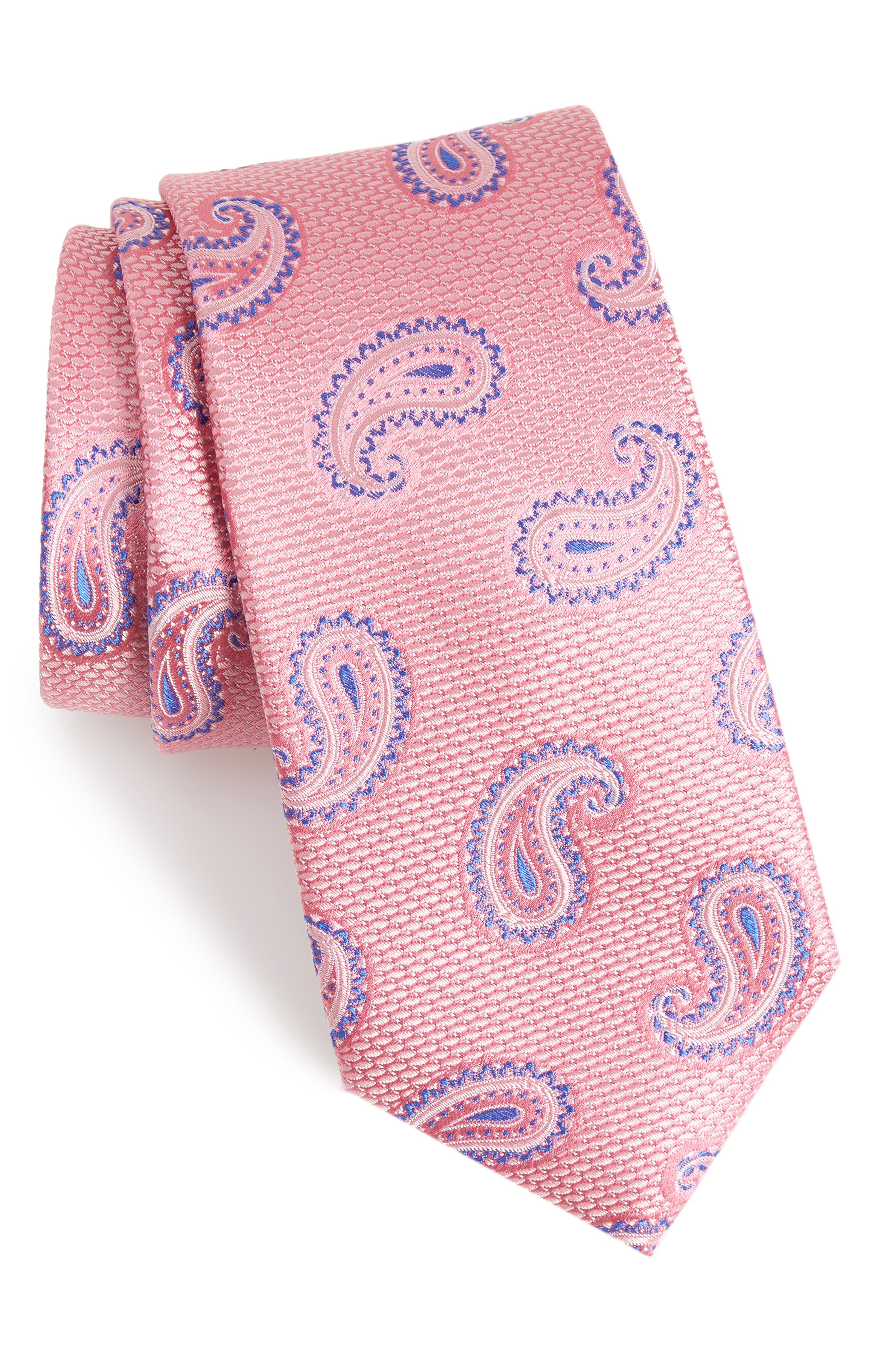 Jerome Paisley Silk Tie,                             Main thumbnail 4, color,
