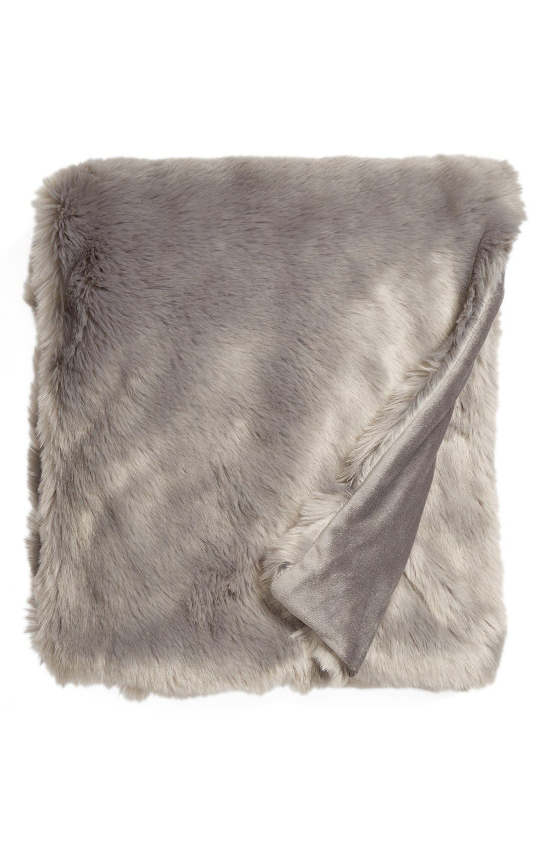 Cuddle Up Faux Fur Throw Blanket,                             Main thumbnail 12, color,
