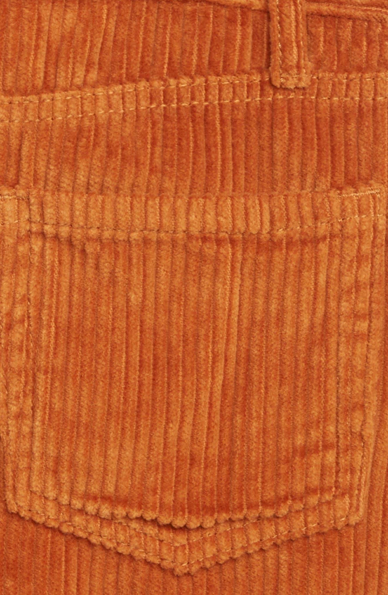 Corduroy Skirt,                             Alternate thumbnail 3, color,                             TAN ADOBE